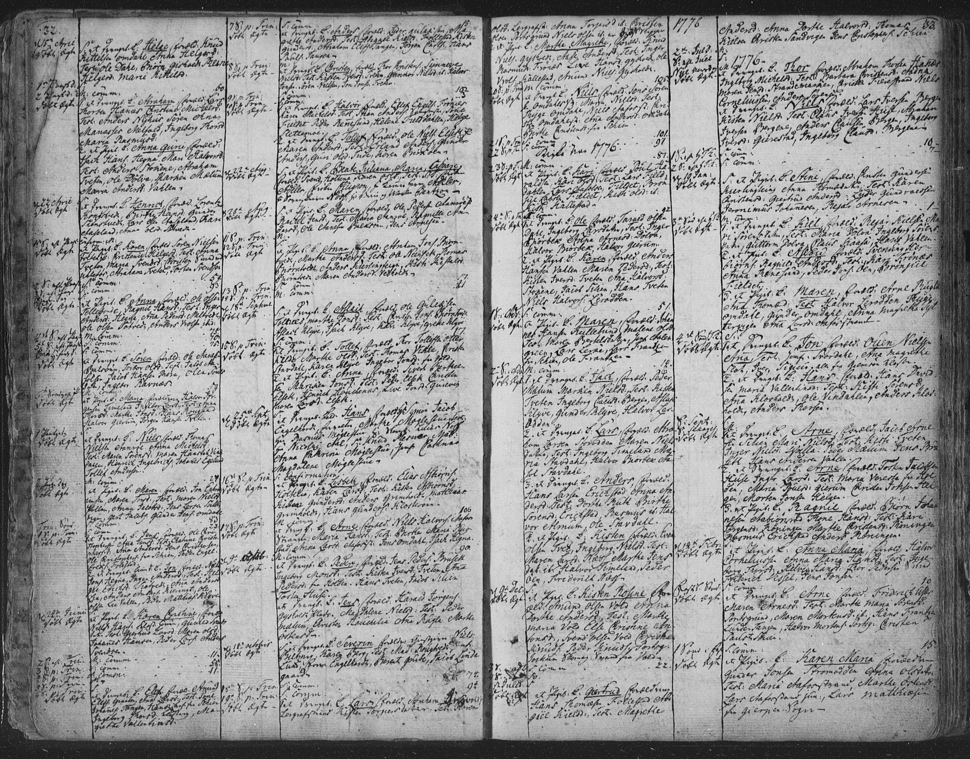 SAKO, Solum kirkebøker, F/Fa/L0003: Ministerialbok nr. I 3, 1761-1814, s. 32-33