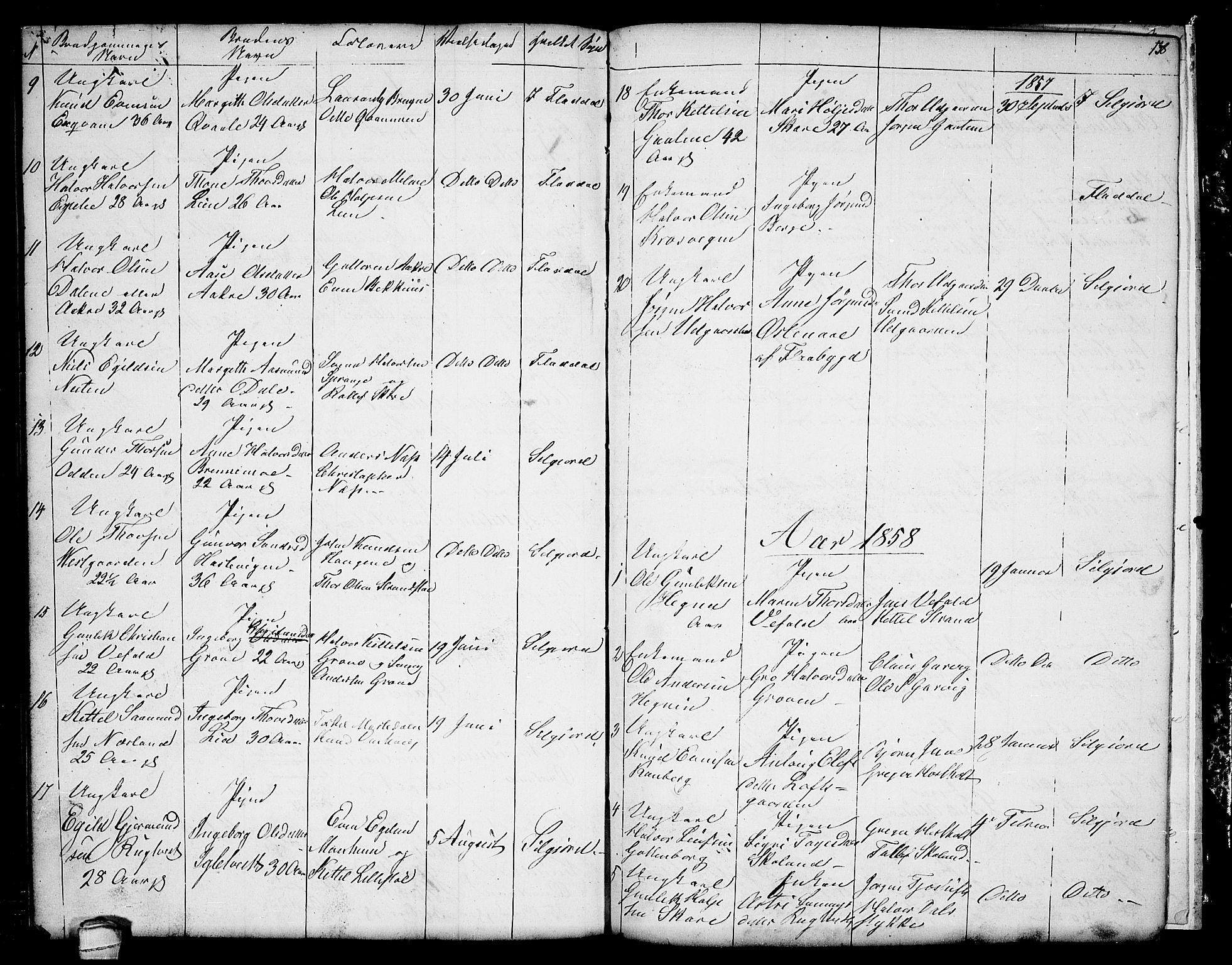 SAKO, Seljord kirkebøker, G/Ga/L0002: Klokkerbok nr. I 2, 1838-1866, s. 138