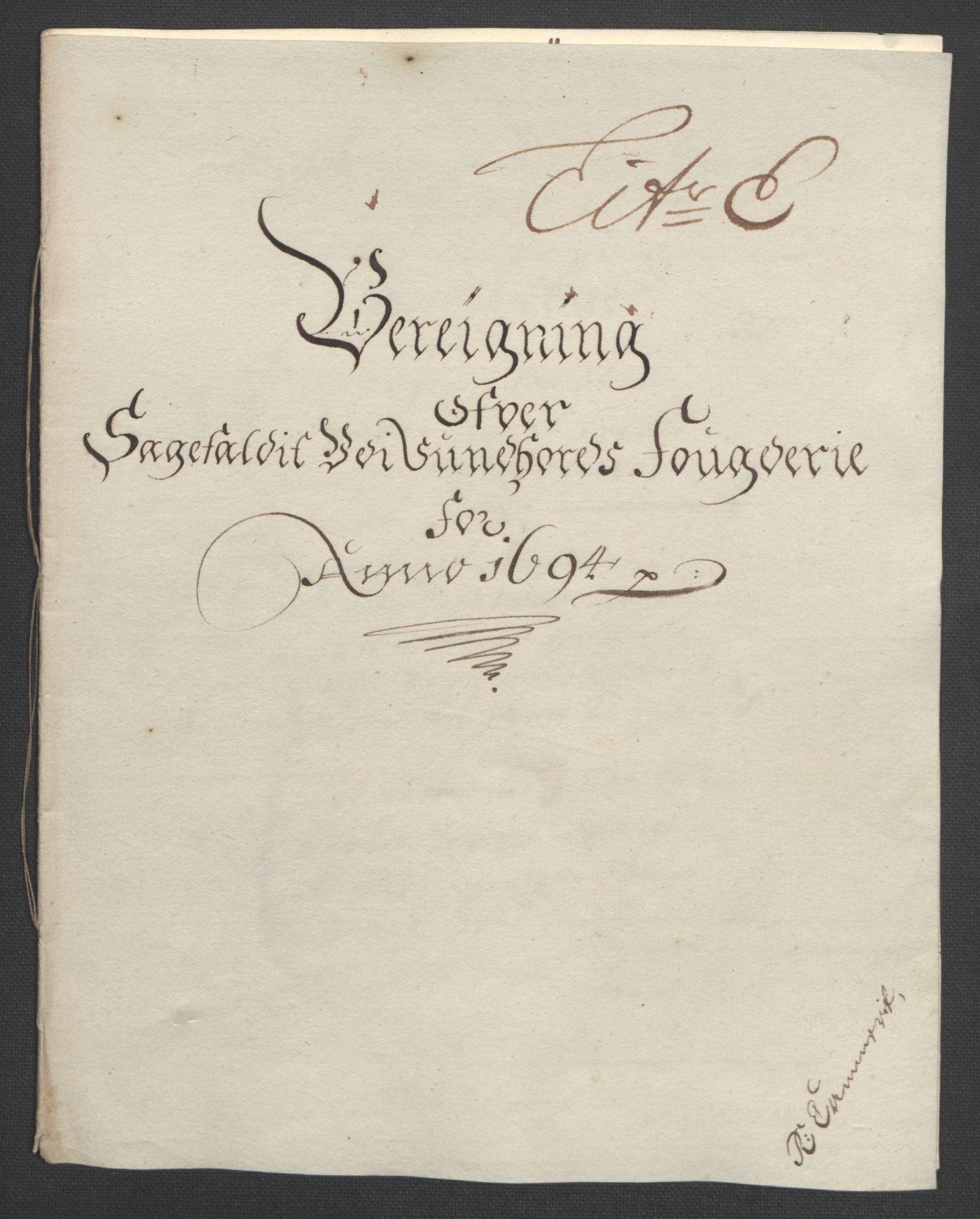 RA, Rentekammeret inntil 1814, Reviderte regnskaper, Fogderegnskap, R48/L2975: Fogderegnskap Sunnhordland og Hardanger, 1694, s. 91