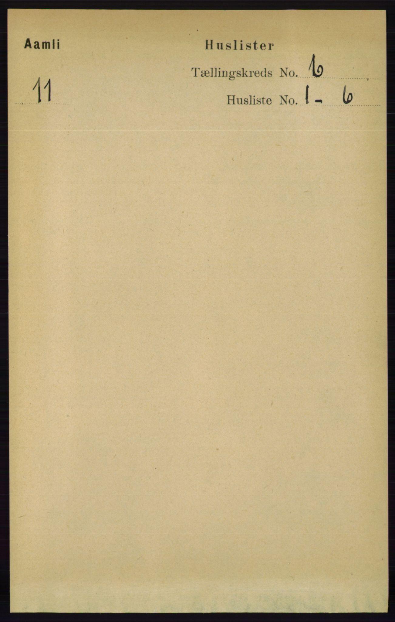 RA, Folketelling 1891 for 0929 Åmli herred, 1891, s. 859