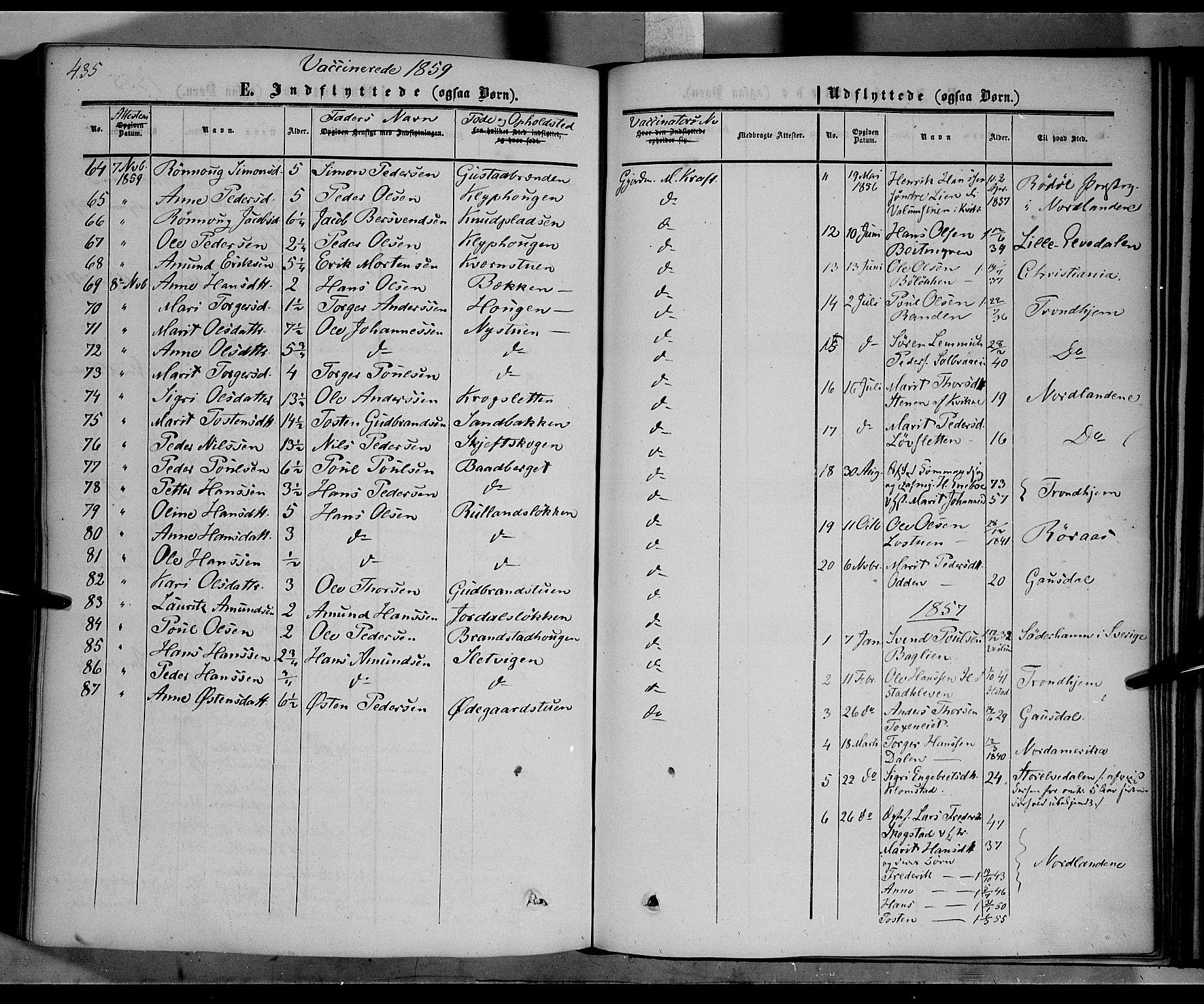 SAH, Nord-Fron prestekontor, Ministerialbok nr. 1, 1851-1864, s. 435