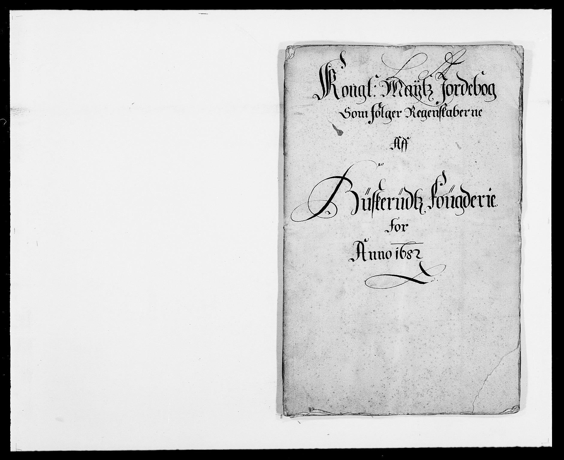 RA, Rentekammeret inntil 1814, Reviderte regnskaper, Fogderegnskap, R25/L1676: Fogderegnskap Buskerud, 1682, s. 1