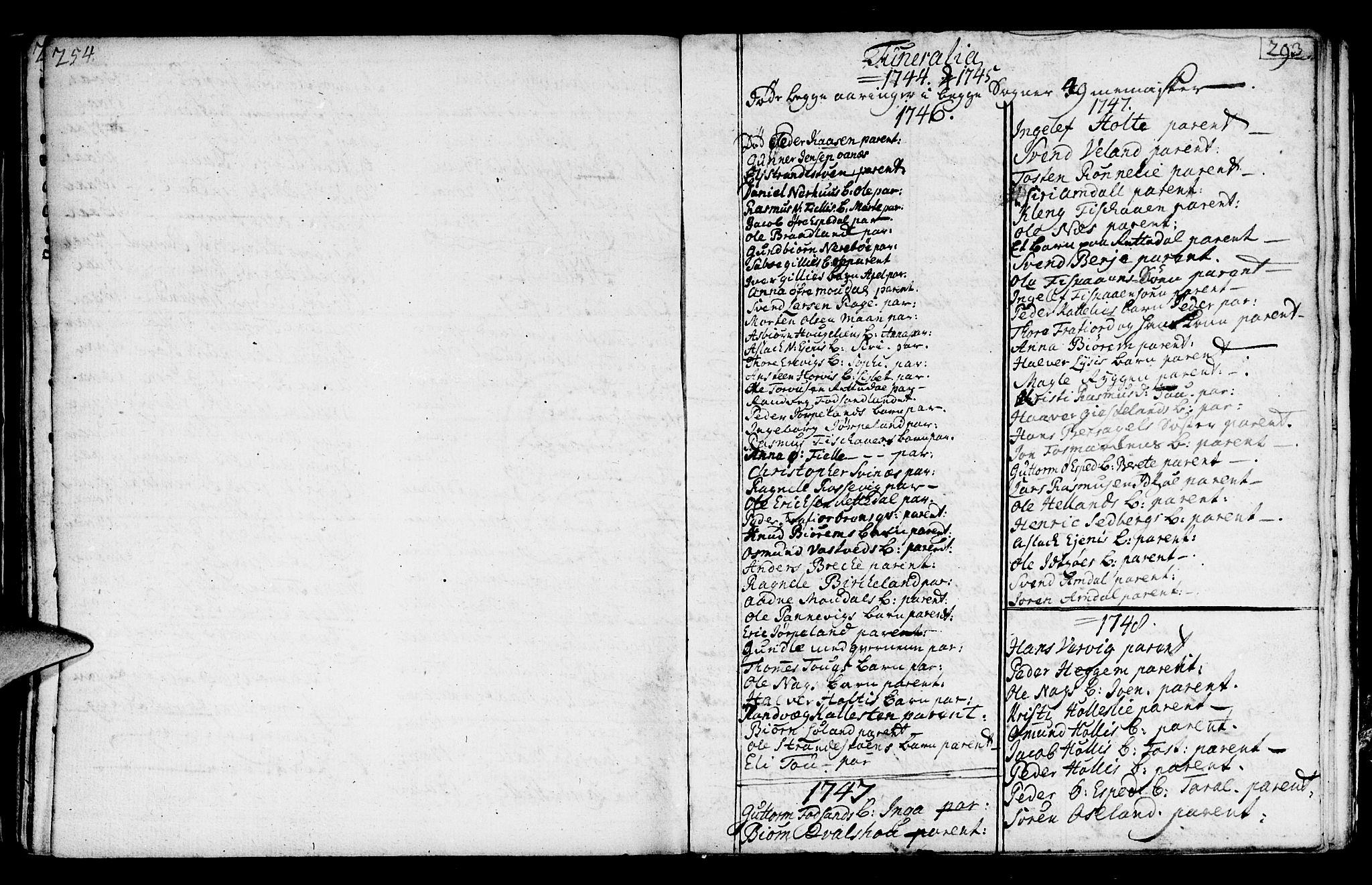 SAST, Strand sokneprestkontor, H/Ha/Haa/L0002: Ministerialbok nr. A 2, 1744-1768, s. 293