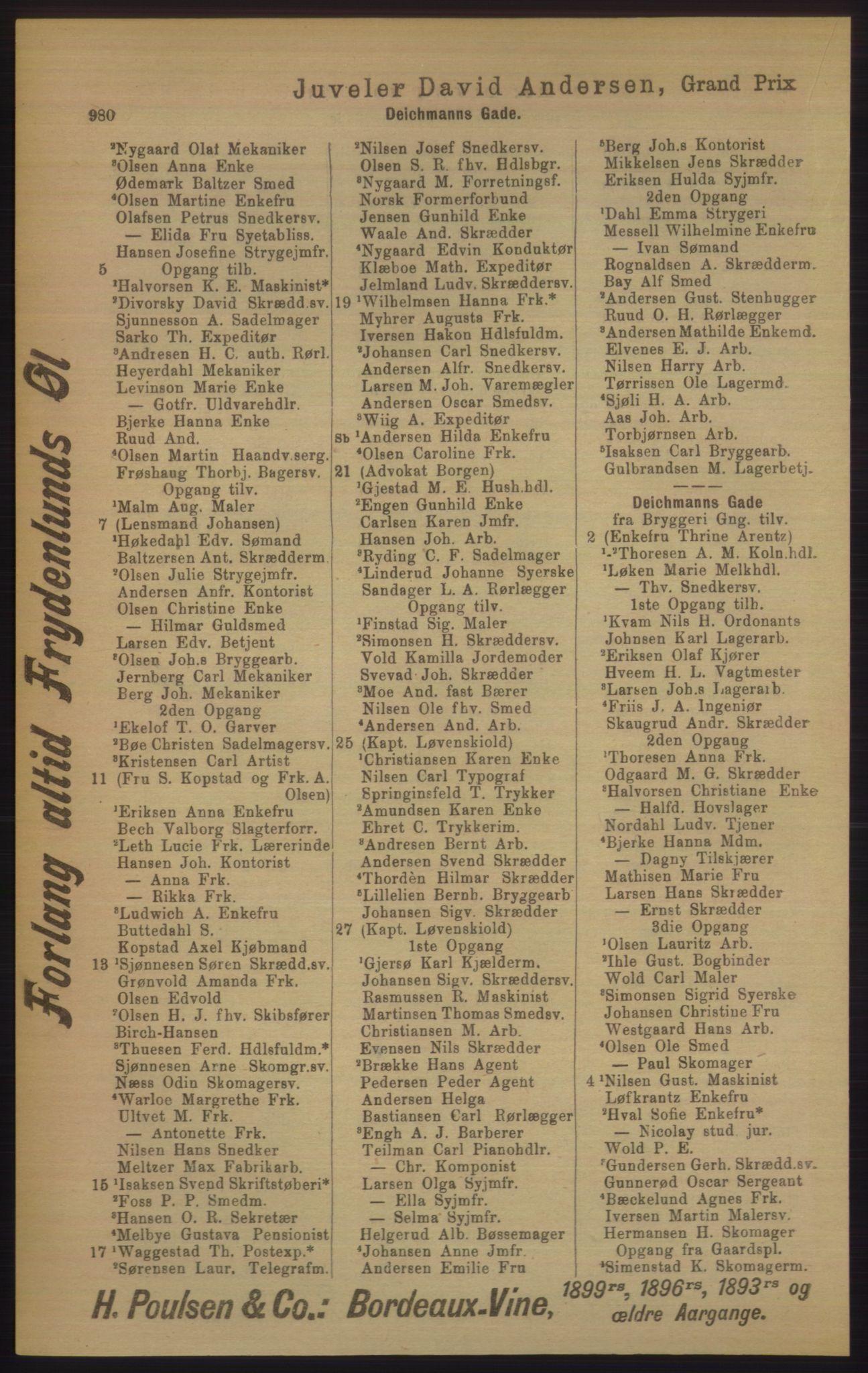 RA, Kristiania adressebok (publikasjon)*, 1906, s. 980