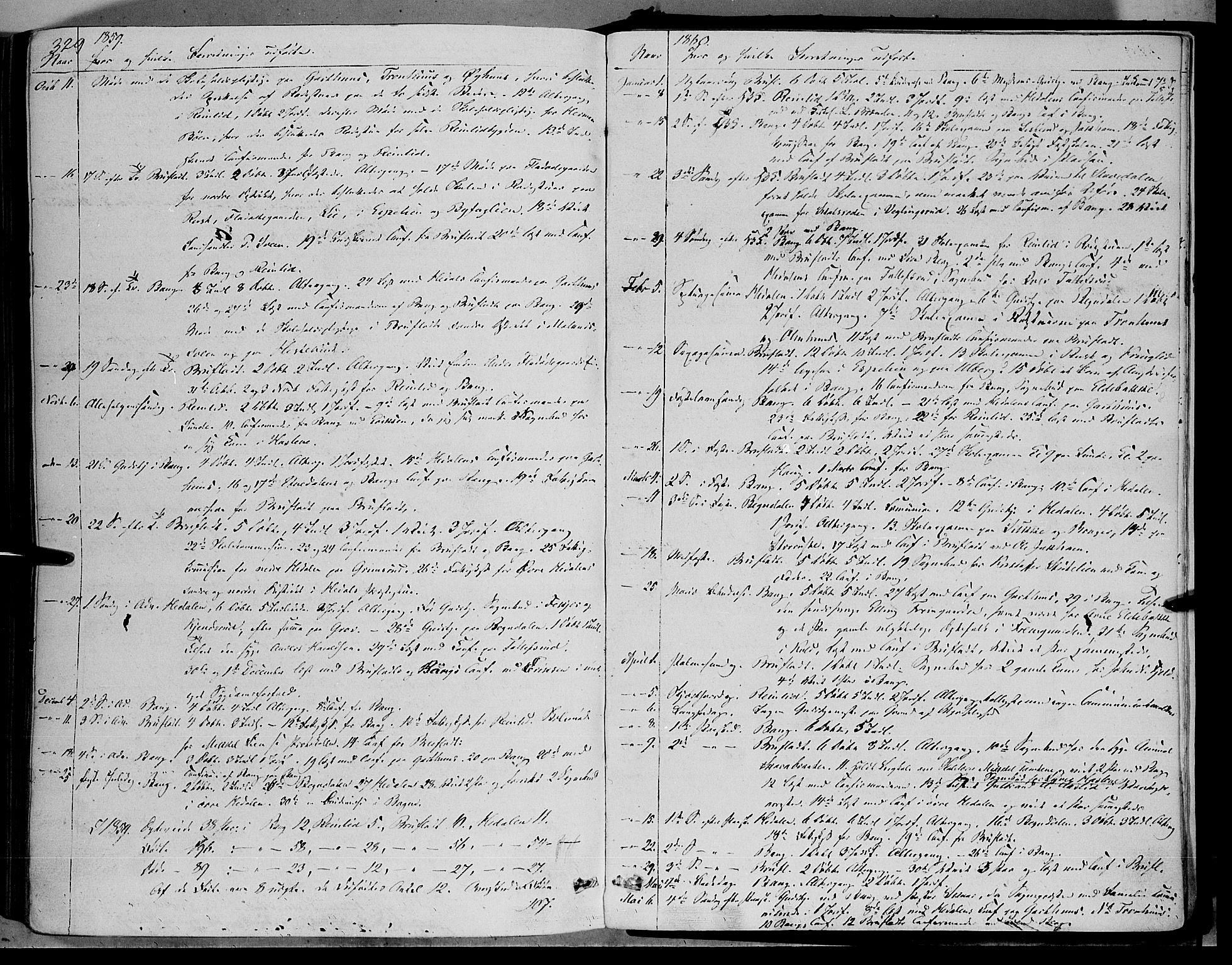 SAH, Sør-Aurdal prestekontor, Ministerialbok nr. 5, 1849-1876, s. 329