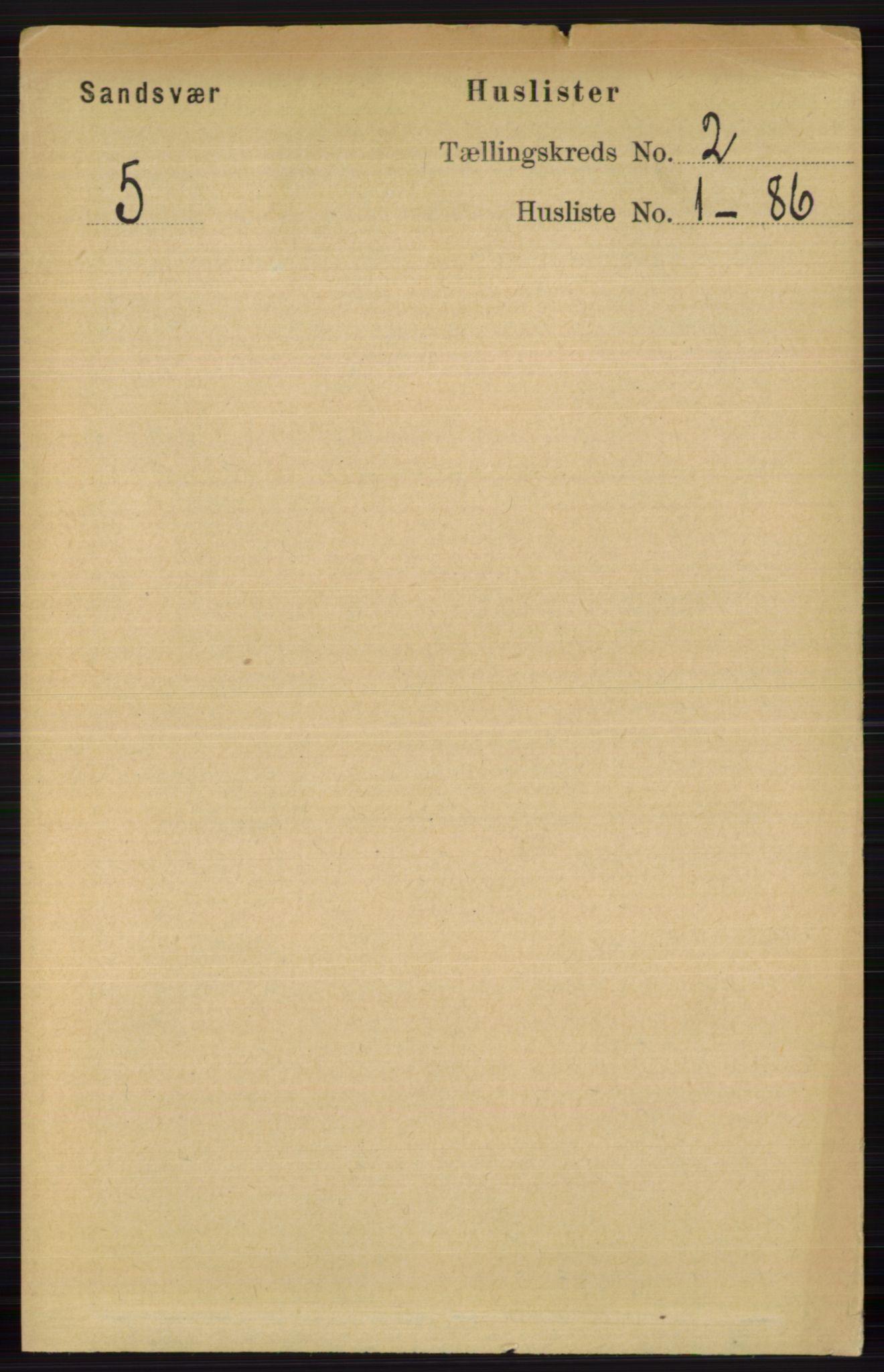 RA, Folketelling 1891 for 0629 Sandsvær herred, 1891, s. 591