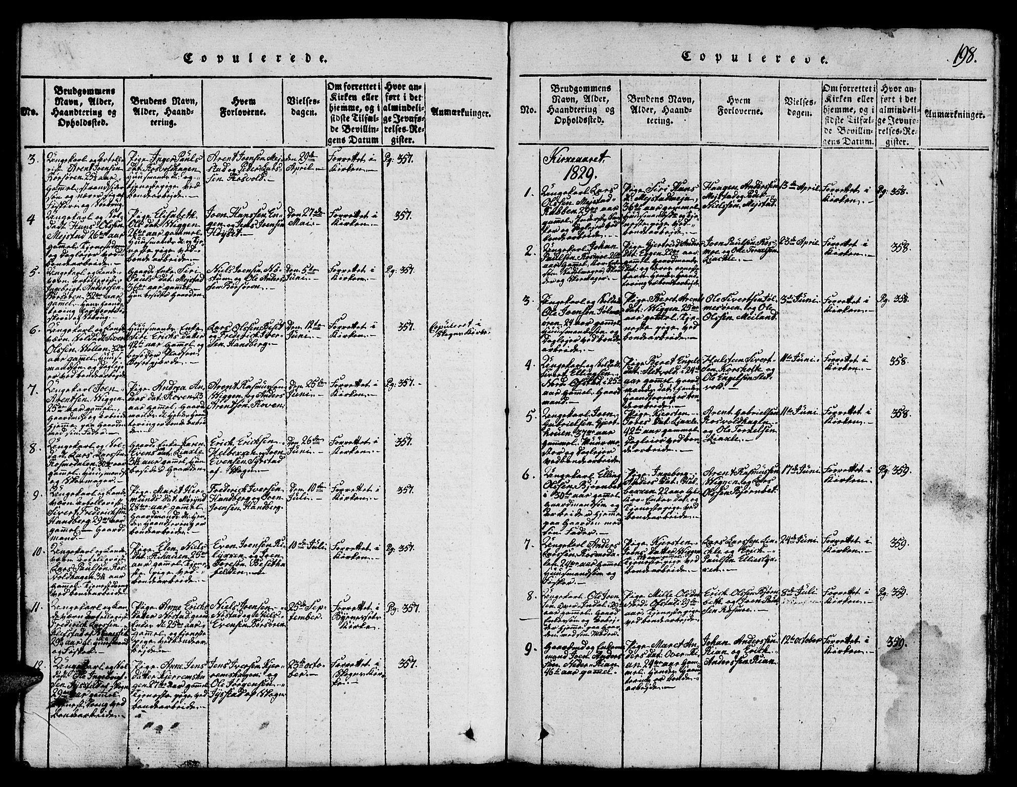 SAT, Ministerialprotokoller, klokkerbøker og fødselsregistre - Sør-Trøndelag, 665/L0776: Klokkerbok nr. 665C01, 1817-1837, s. 198