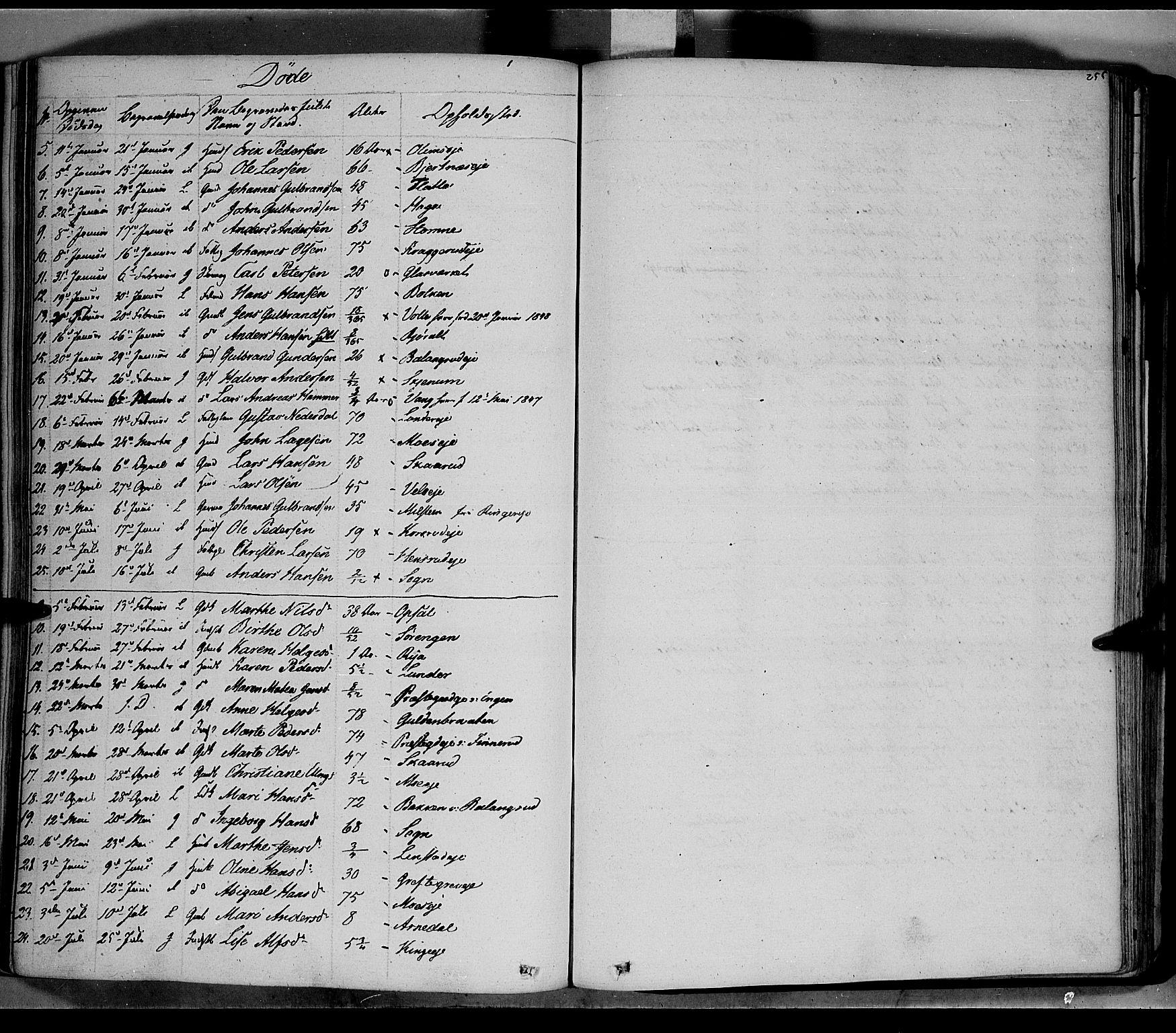 SAH, Jevnaker prestekontor, Ministerialbok nr. 6, 1837-1857, s. 255