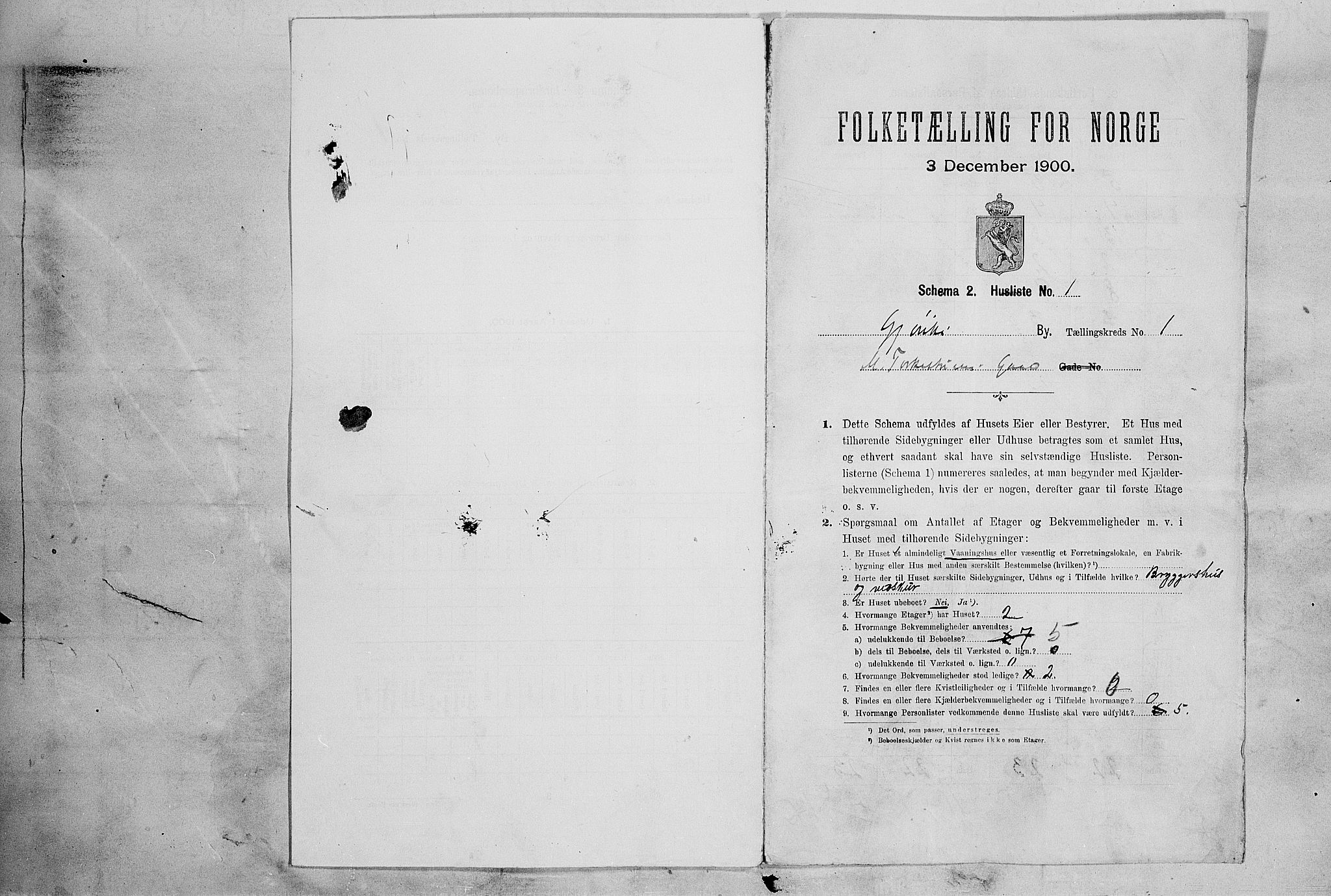 SAH, Folketelling 1900 for 0502 Gjøvik kjøpstad, 1900, s. 36