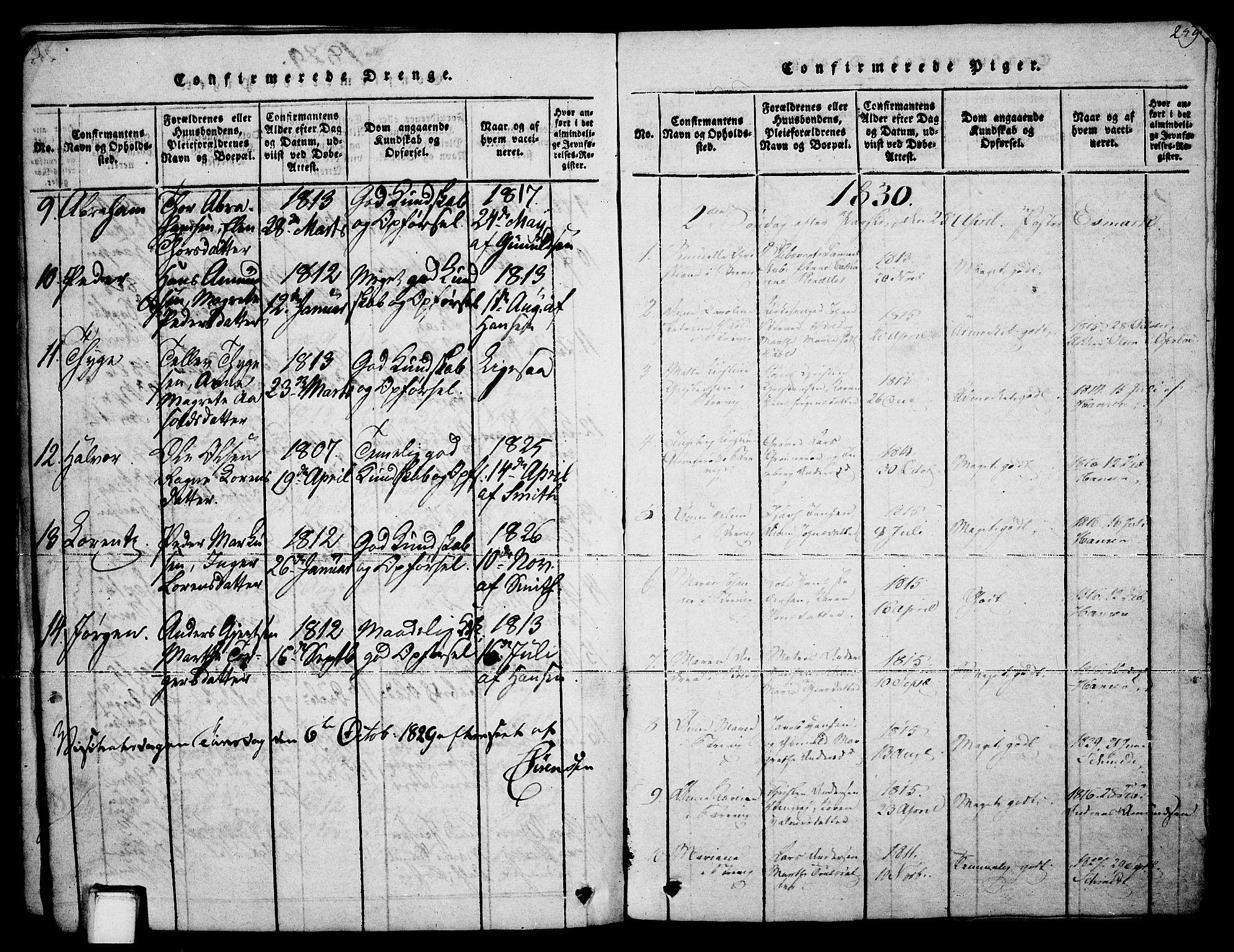 SAKO, Brevik kirkebøker, F/Fa/L0004: Ministerialbok nr. 4, 1814-1846, s. 259