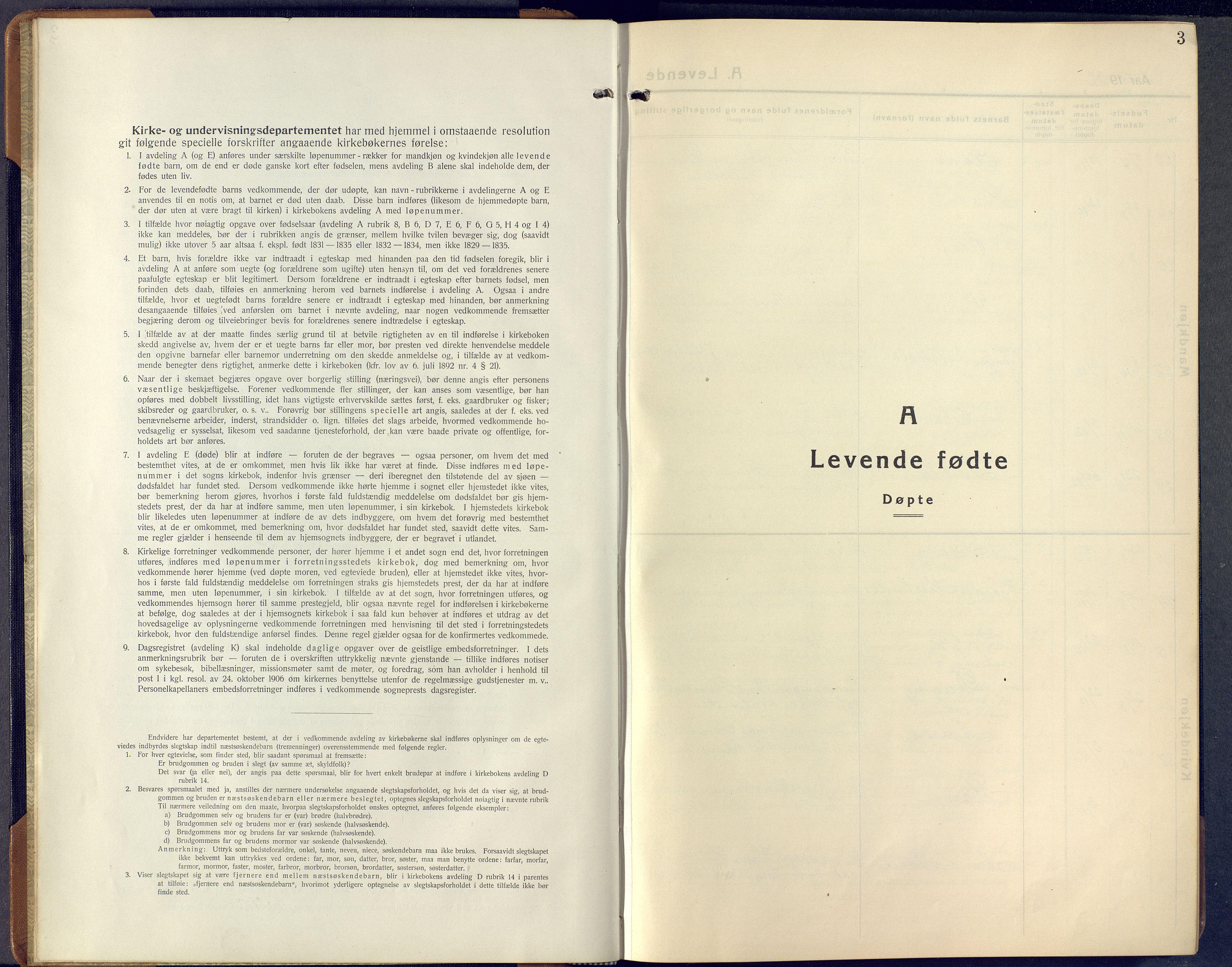 SAKO, Lunde kirkebøker, F/Fa/L0006: Ministerialbok nr. I 6, 1922-1940, s. 3