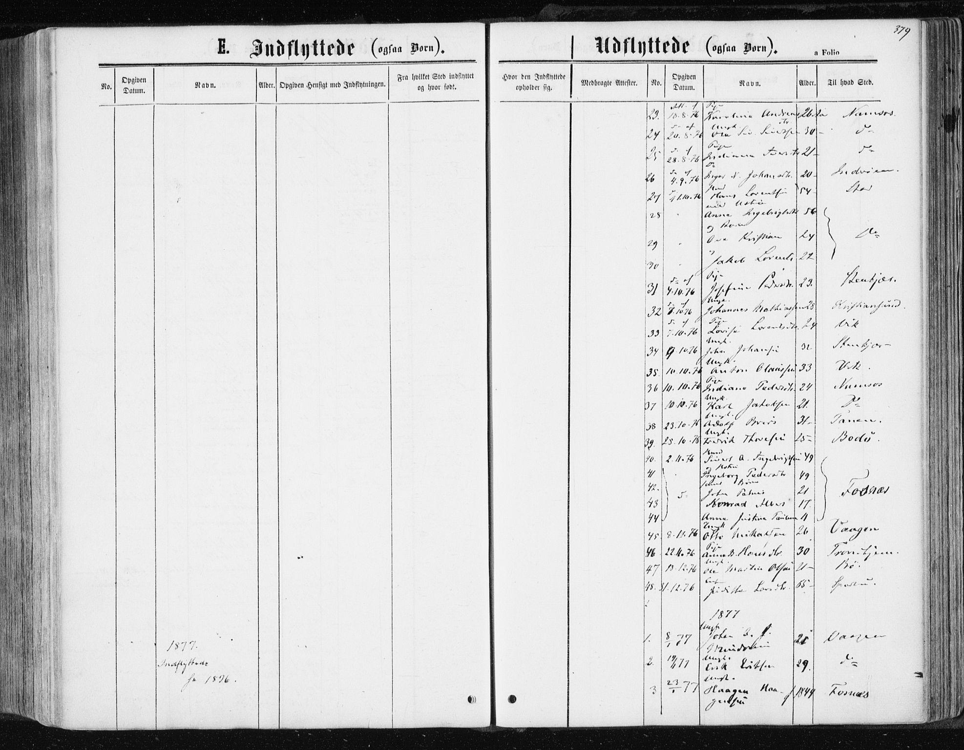 SAT, Ministerialprotokoller, klokkerbøker og fødselsregistre - Nord-Trøndelag, 741/L0394: Ministerialbok nr. 741A08, 1864-1877, s. 379
