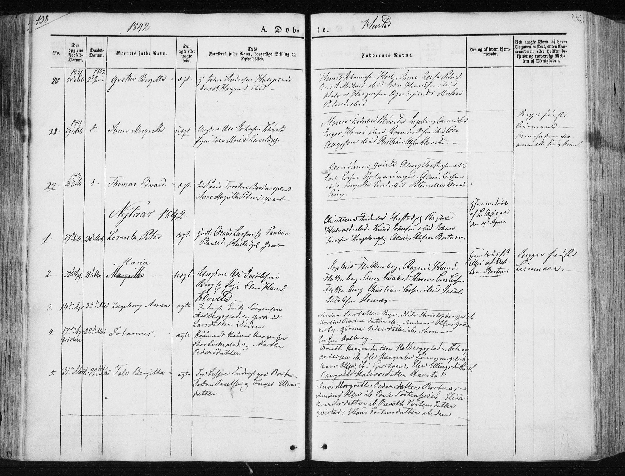 SAT, Ministerialprotokoller, klokkerbøker og fødselsregistre - Nord-Trøndelag, 730/L0280: Ministerialbok nr. 730A07 /3, 1840-1854, s. 138