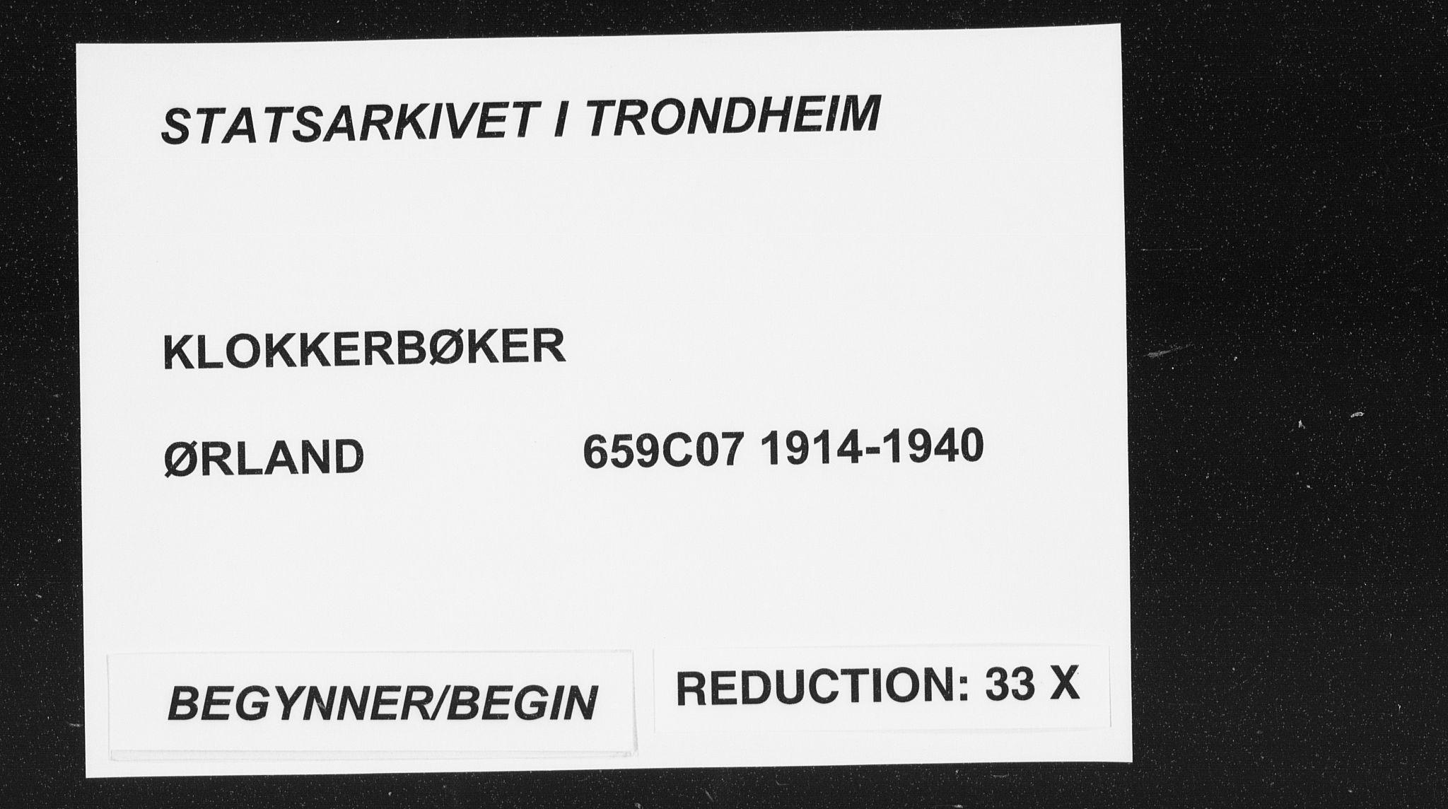 SAT, Ministerialprotokoller, klokkerbøker og fødselsregistre - Sør-Trøndelag, 659/L0750: Klokkerbok nr. 659C07, 1914-1940