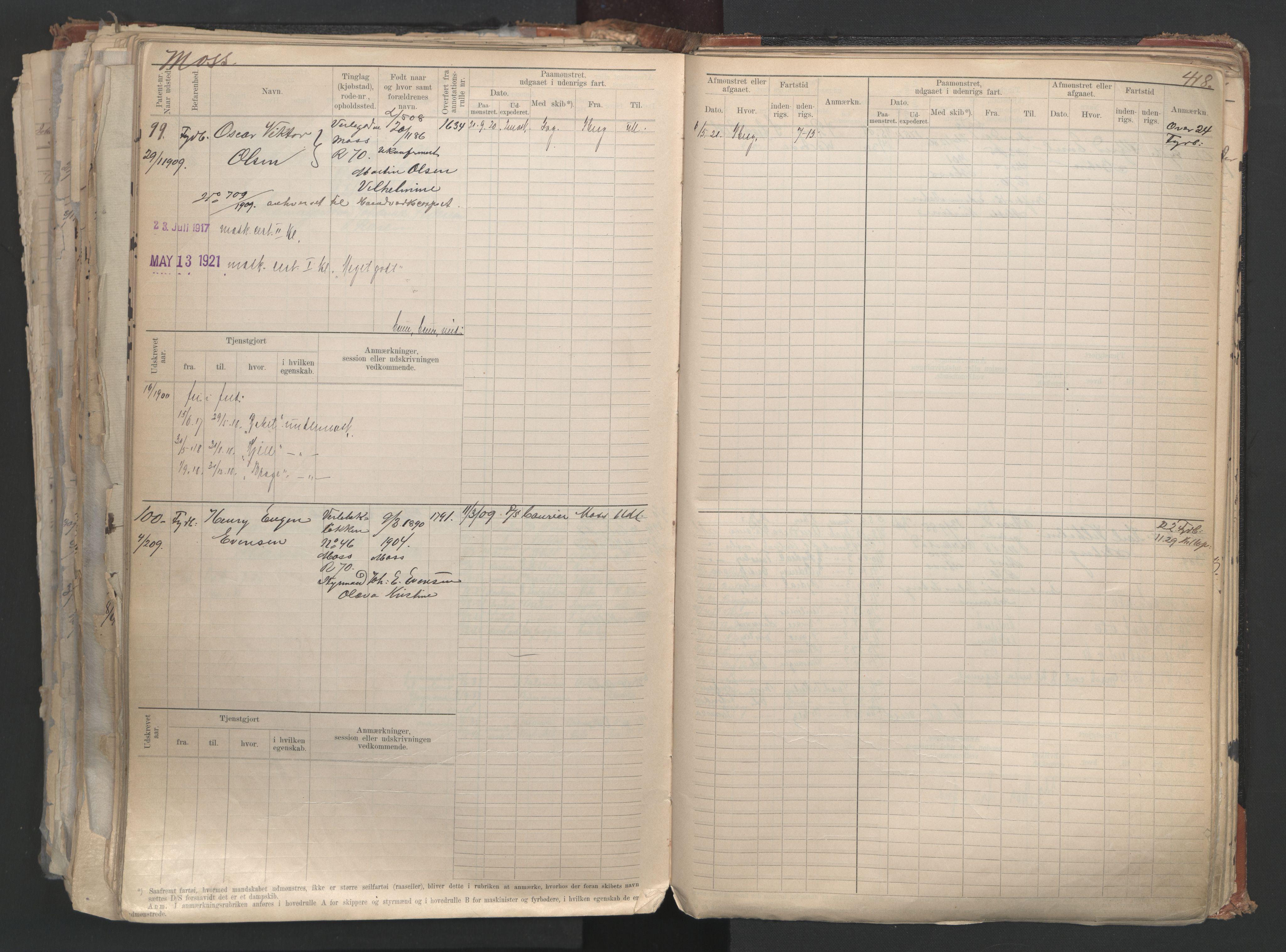 SAO, Oslo sjømannskontor, F/Fd/L0006: B-rulle, 1883, s. 417b-418a