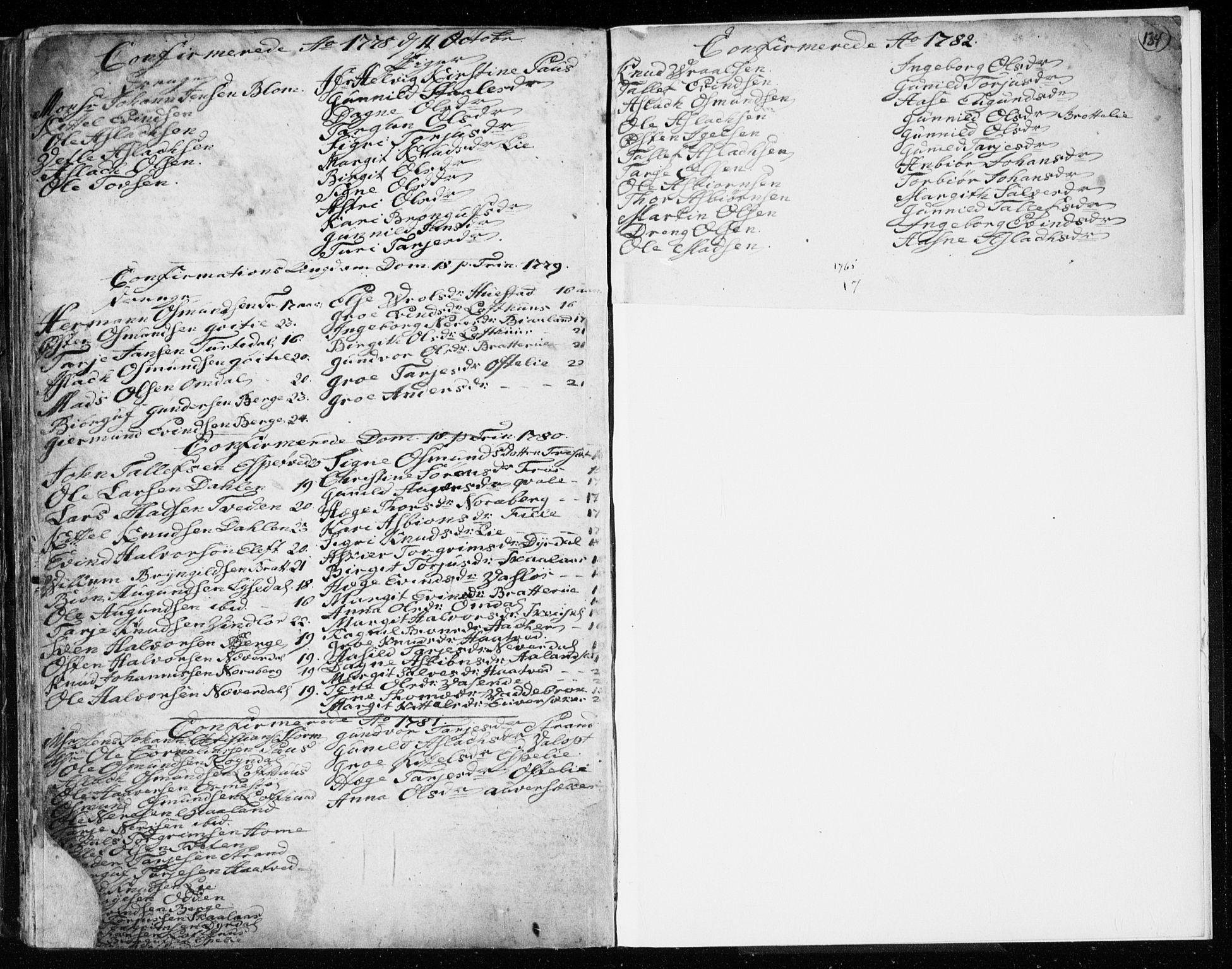 SAKO, Lårdal kirkebøker, F/Fa/L0003: Ministerialbok nr. I 3, 1754-1790, s. 134