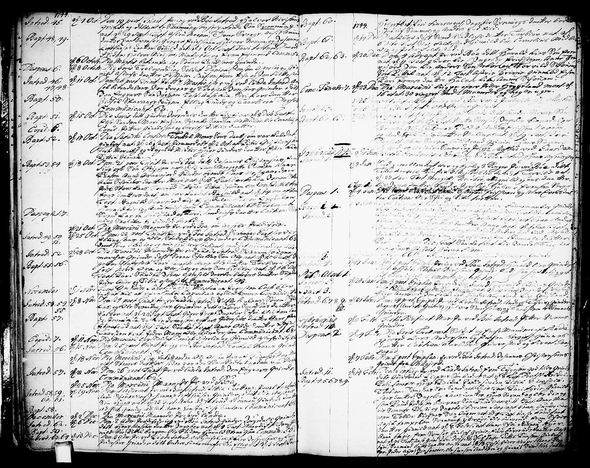 SAKO, Bø kirkebøker, F/Fa/L0003: Ministerialbok nr. 3, 1733-1748, s. 30