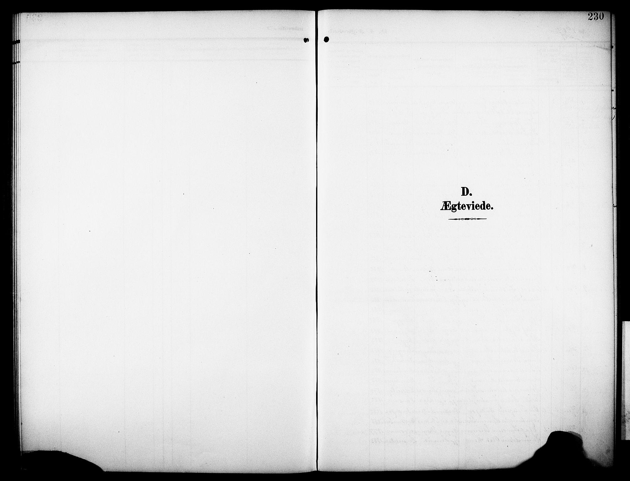 SAKO, Drangedal kirkebøker, G/Ga/L0004: Klokkerbok nr. I 4, 1901-1933, s. 230