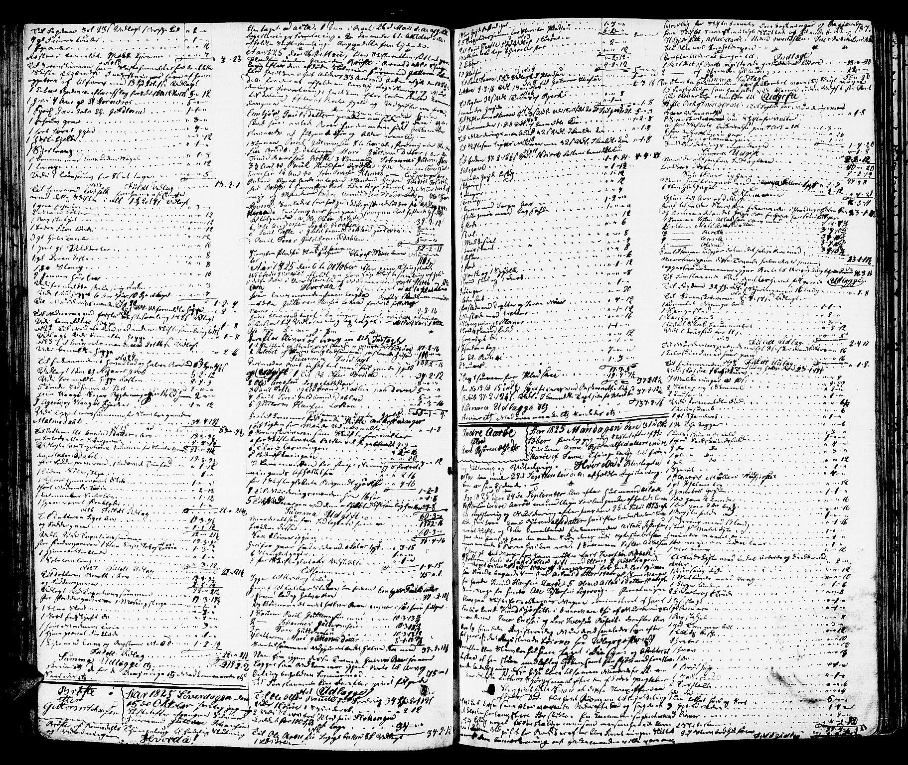 SAT, Romsdal sorenskriveri, 3/3A/L0016: Skifteutlodnings Protokoll 2, 1823-1831, s. 187