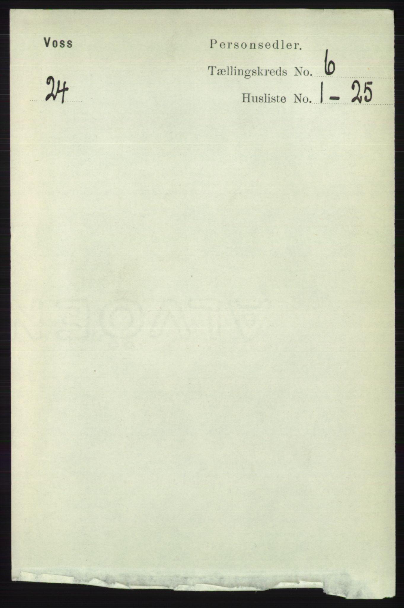 RA, Folketelling 1891 for 1235 Voss herred, 1891, s. 3289
