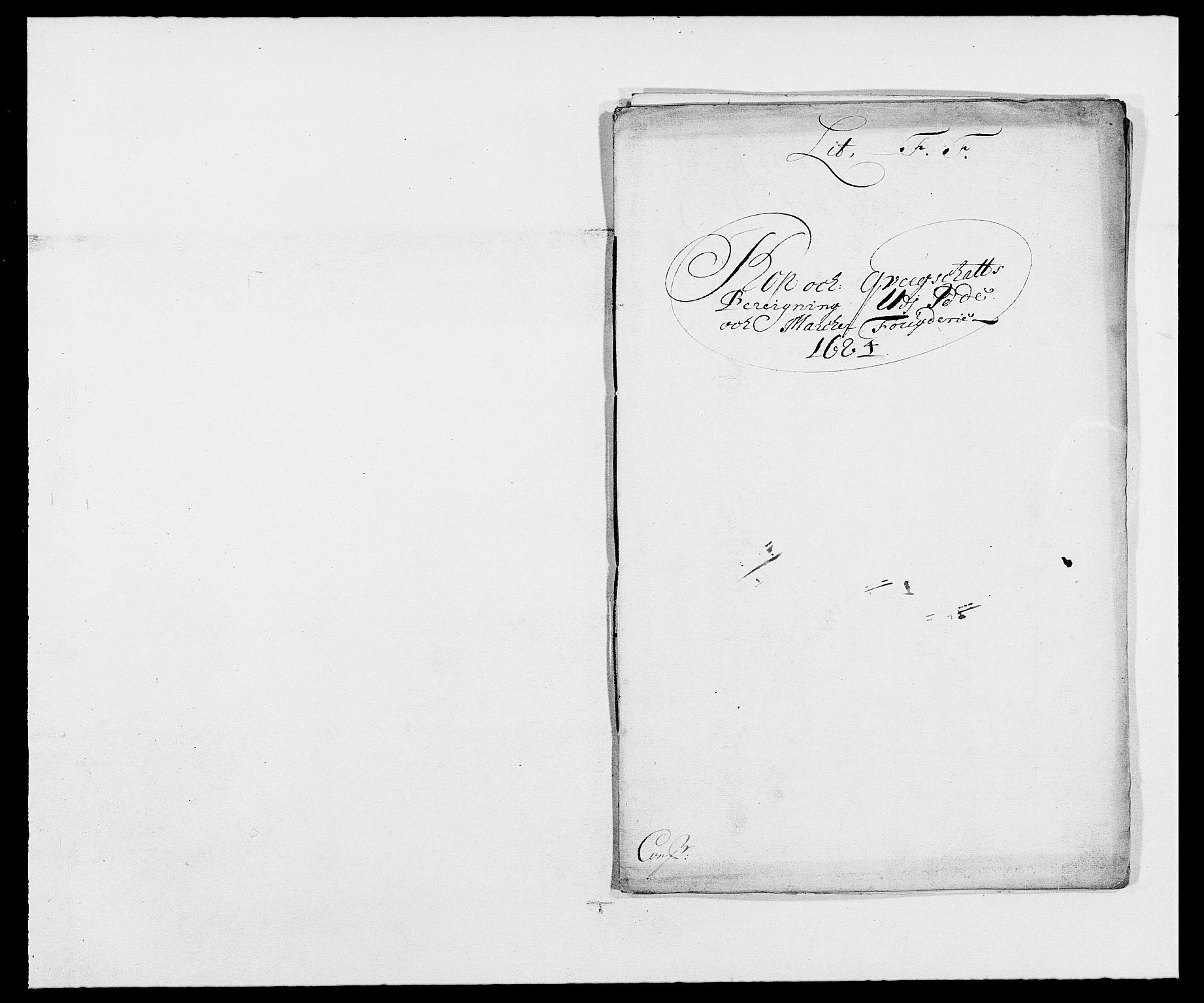 RA, Rentekammeret inntil 1814, Reviderte regnskaper, Fogderegnskap, R01/L0005: Fogderegnskap Idd og Marker , 1682-1684, s. 195