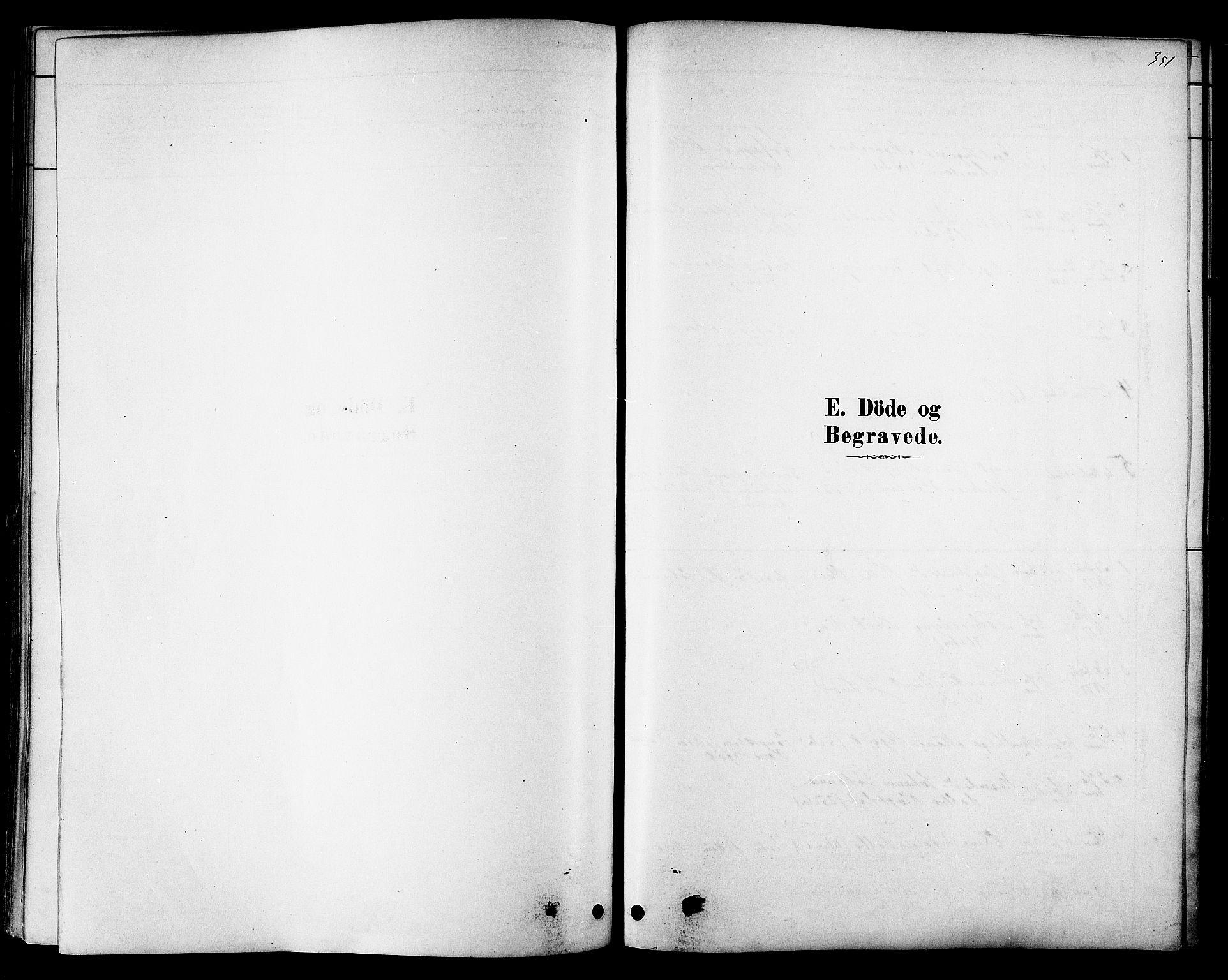 SAT, Ministerialprotokoller, klokkerbøker og fødselsregistre - Sør-Trøndelag, 606/L0294: Ministerialbok nr. 606A09, 1878-1886, s. 351