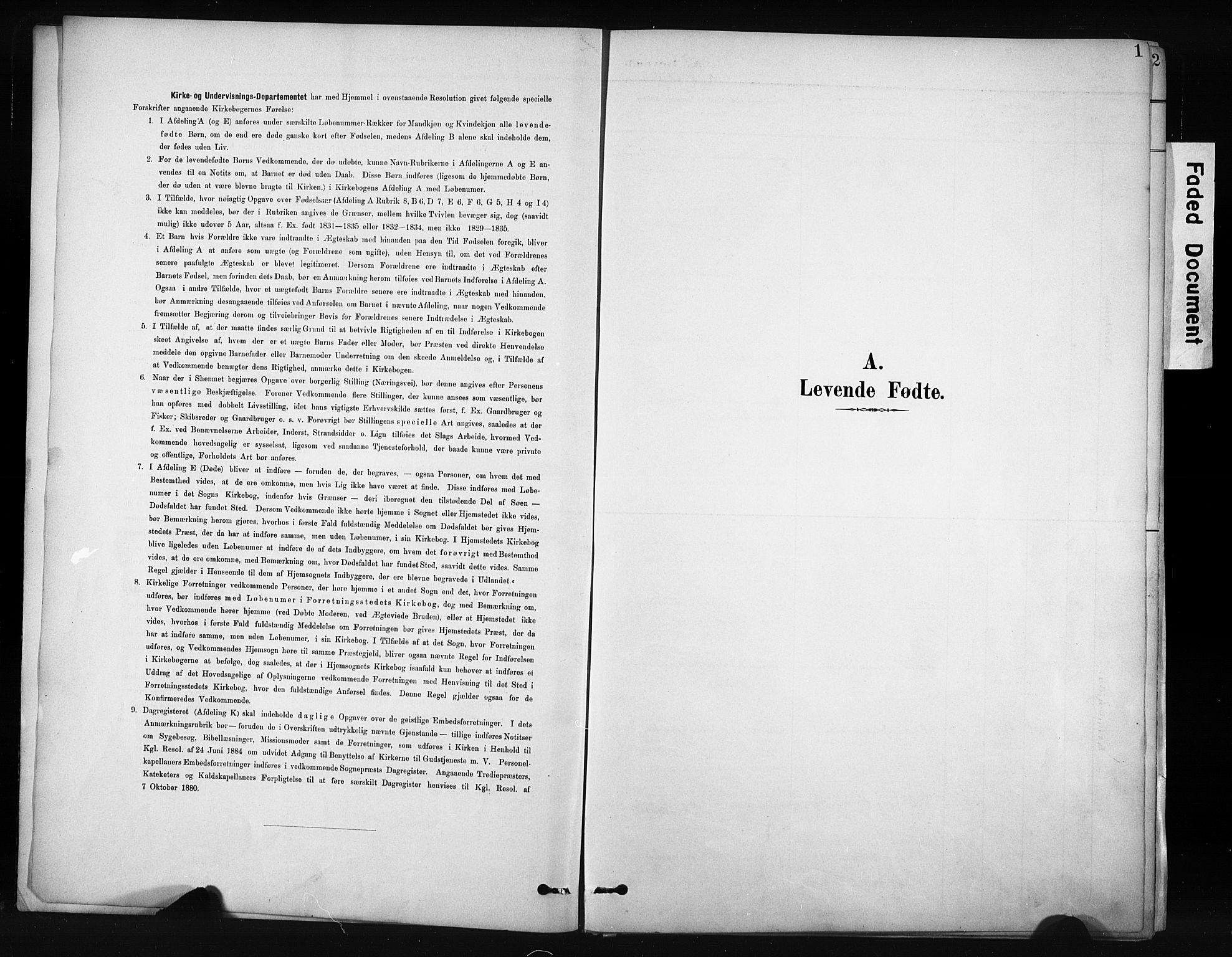 SAH, Nordre Land prestekontor, Klokkerbok nr. 12, 1891-1909, s. 1