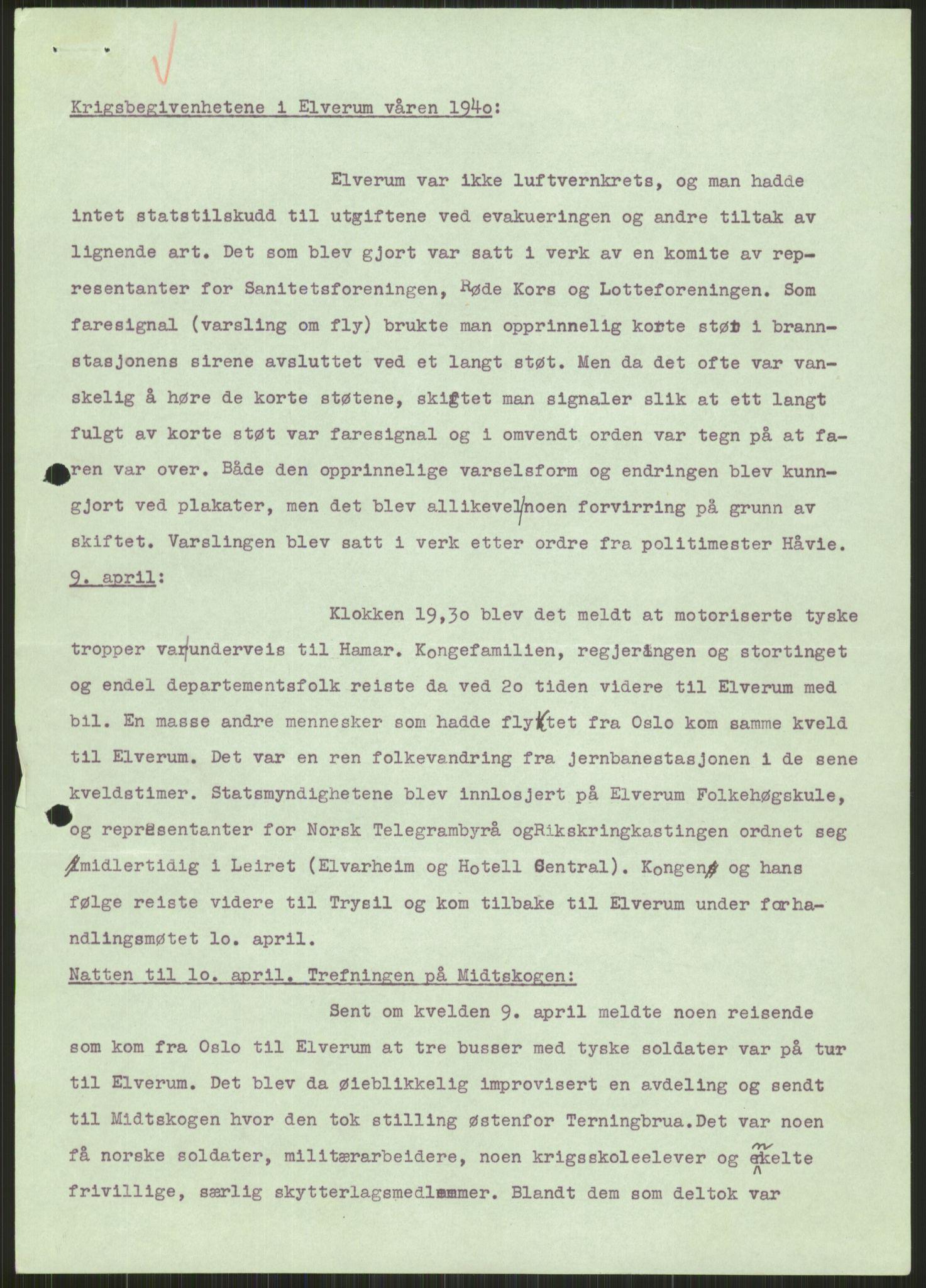 RA, Forsvaret, Forsvarets krigshistoriske avdeling, Y/Ya/L0013: II-C-11-31 - Fylkesmenn.  Rapporter om krigsbegivenhetene 1940., 1940, s. 861