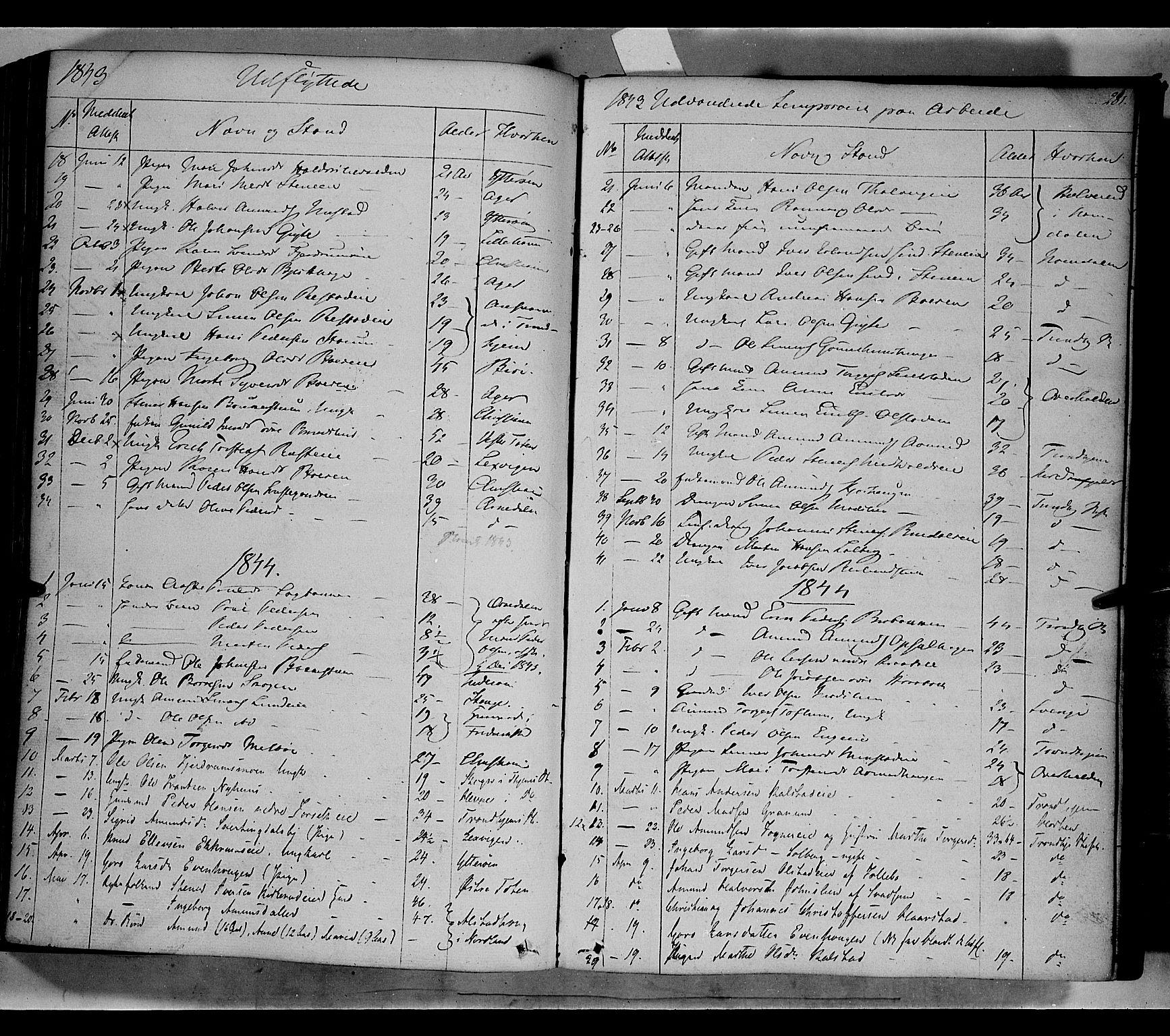 SAH, Gausdal prestekontor, Ministerialbok nr. 7, 1840-1850, s. 281