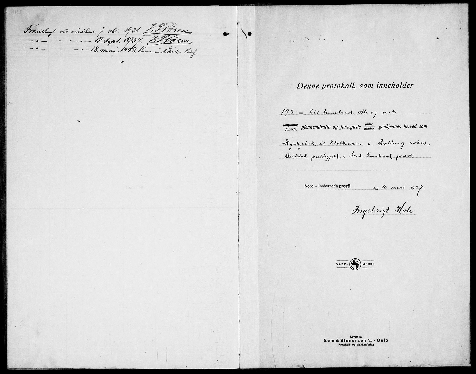SAT, Ministerialprotokoller, klokkerbøker og fødselsregistre - Nord-Trøndelag, 741/L0403: Ministerialbok nr. 741C04, 1925-1944