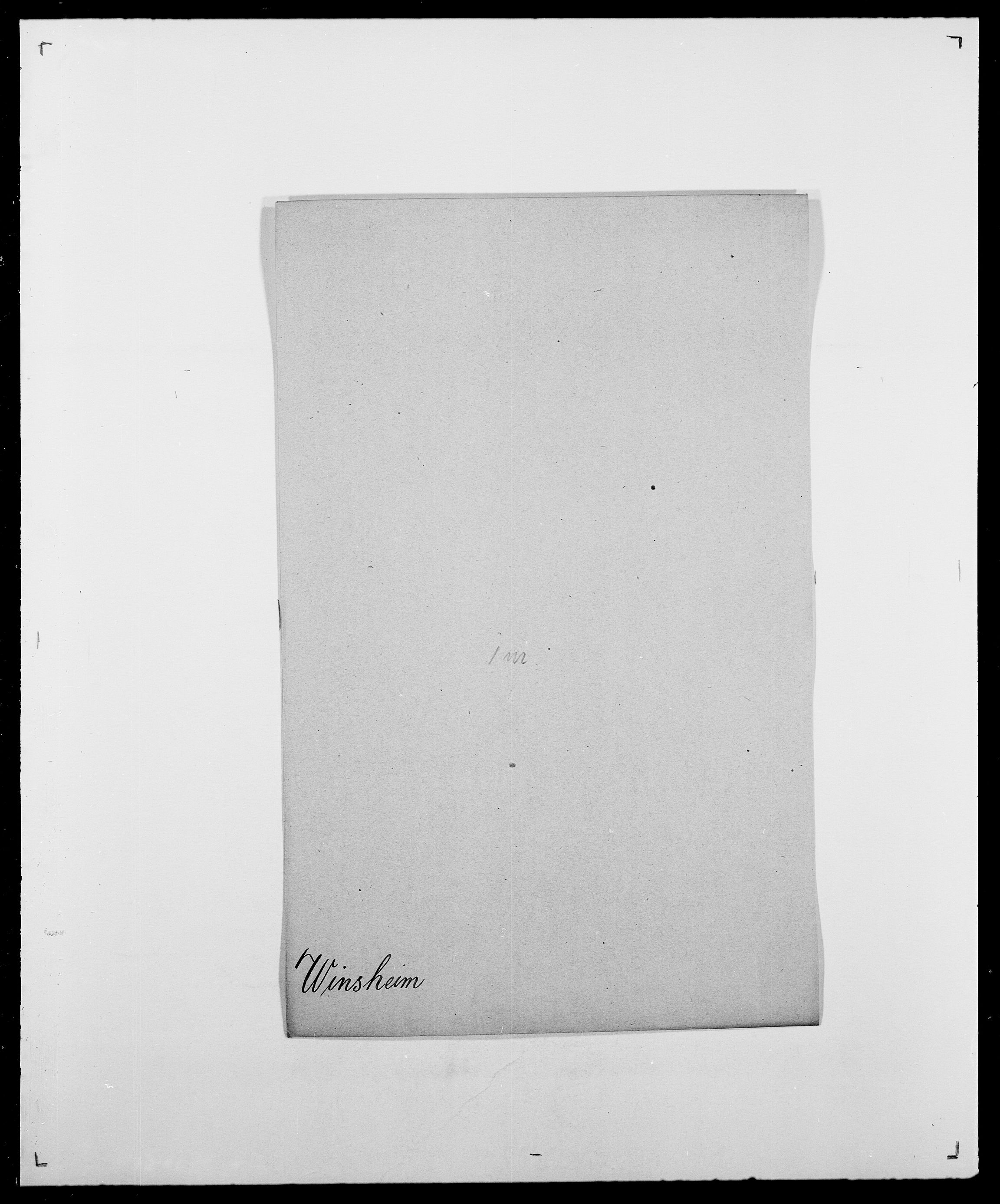 SAO, Delgobe, Charles Antoine - samling, D/Da/L0042: Vilain - Wulf, Wulff, se også Wolf, s. 261