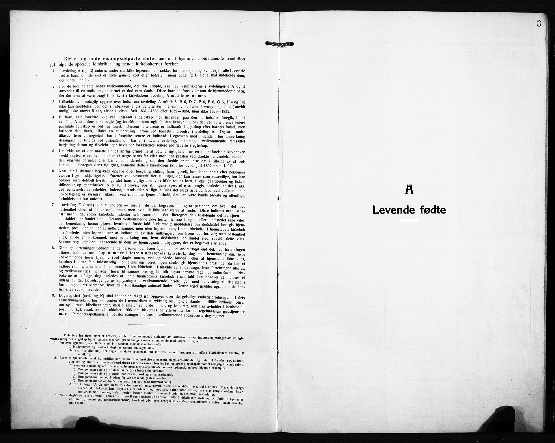 SAH, Søndre Land prestekontor, L/L0007: Klokkerbok nr. 7, 1915-1932, s. 3