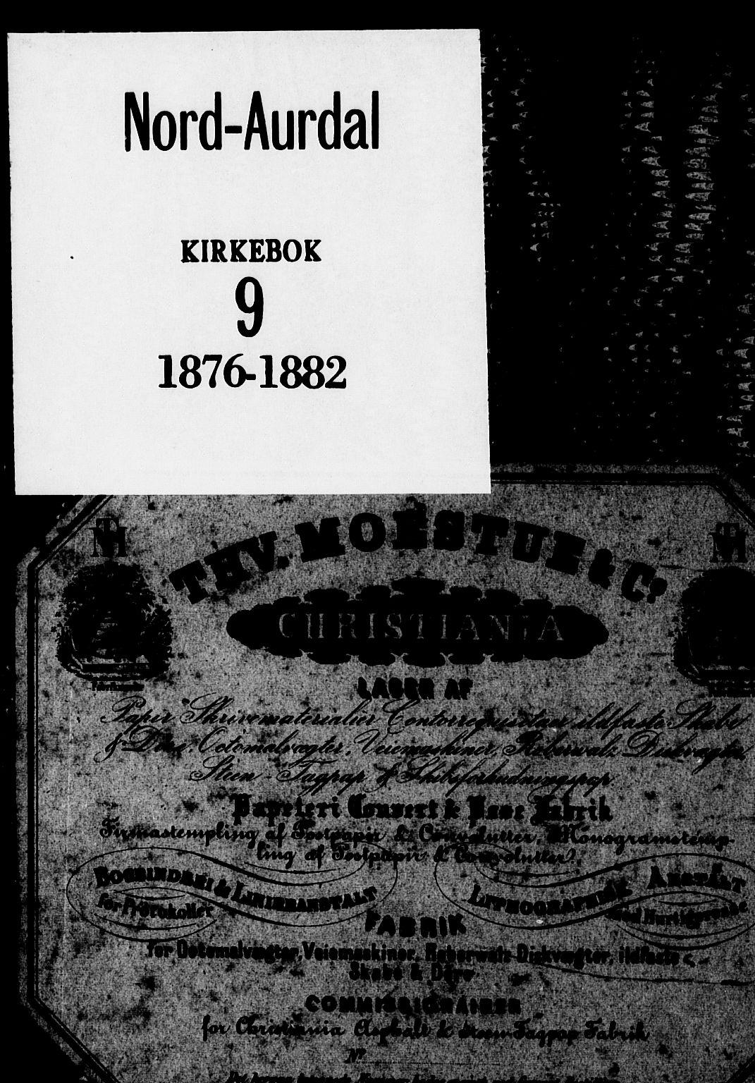 SAH, Nord-Aurdal prestekontor, Ministerialbok nr. 9, 1876-1882