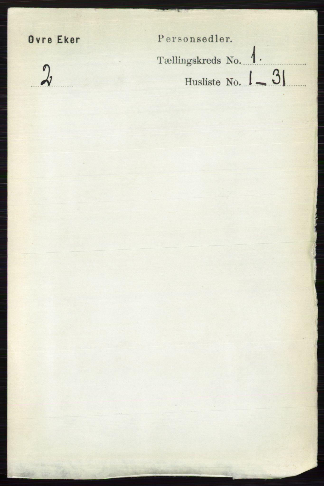RA, Folketelling 1891 for 0624 Øvre Eiker herred, 1891, s. 129
