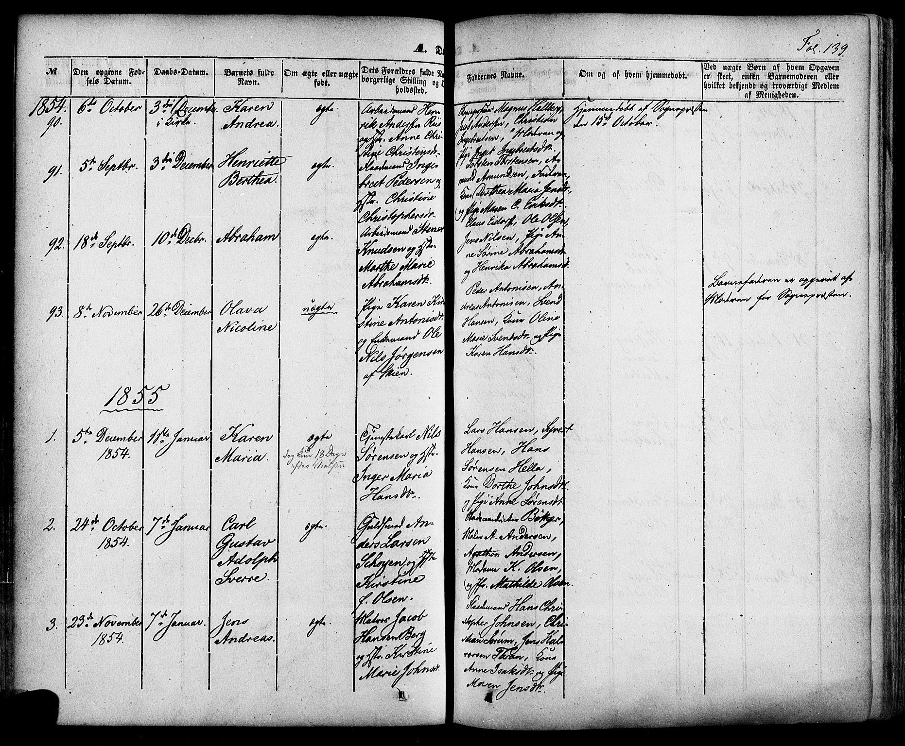 SAKO, Skien kirkebøker, F/Fa/L0006a: Ministerialbok nr. 6A, 1843-1856, s. 139