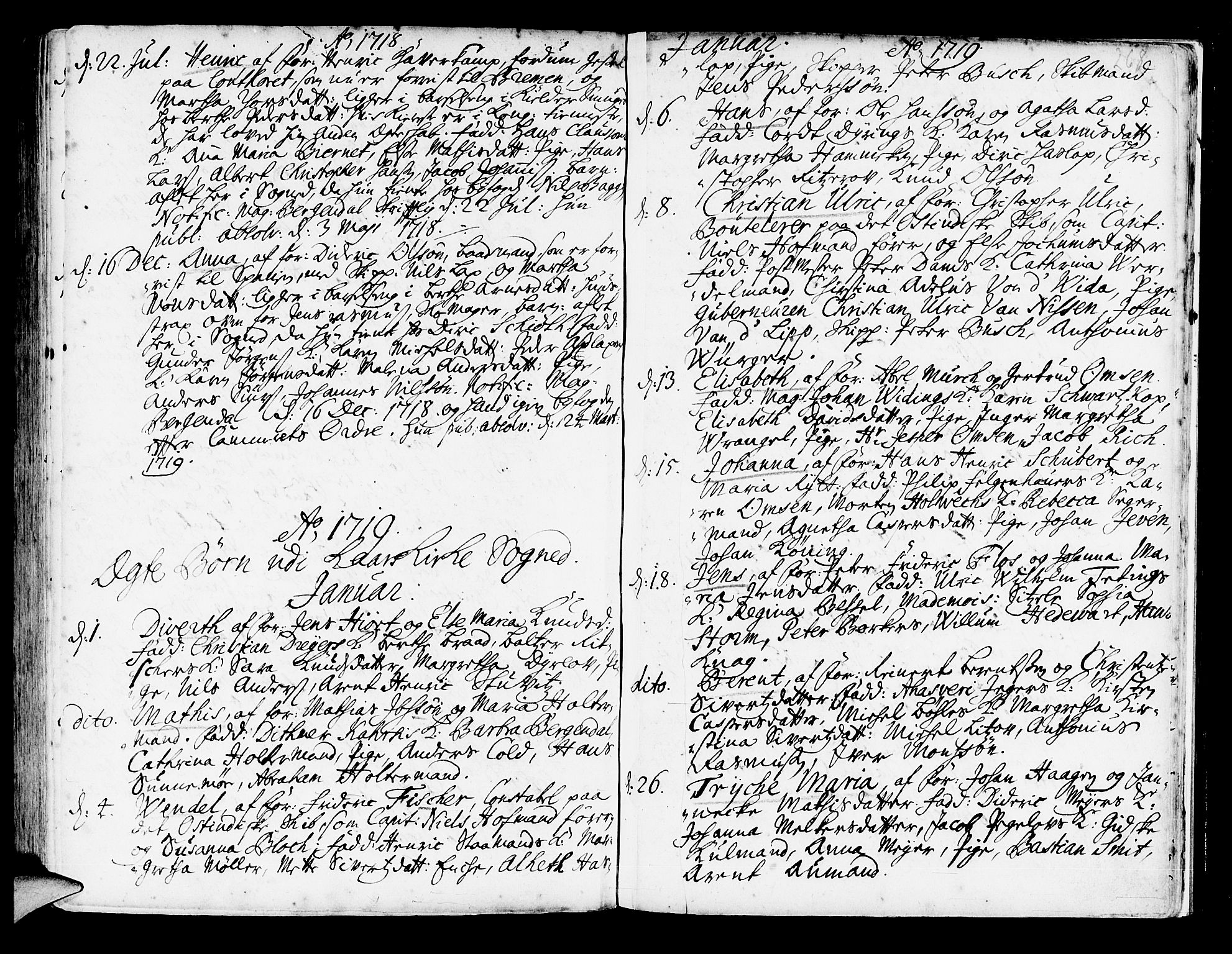 SAB, Korskirken Sokneprestembete, H/Haa/L0003: Ministerialbok nr. A 3, 1698-1719, s. 268