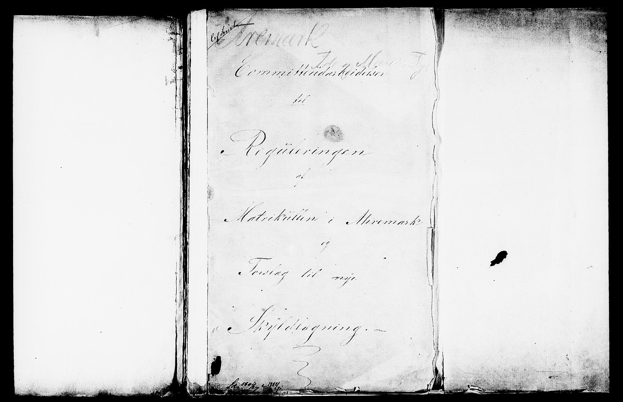 RA, Matrikkelrevisjonen av 1863, F/Fe/L0008: Aremark (Ømark), 1863