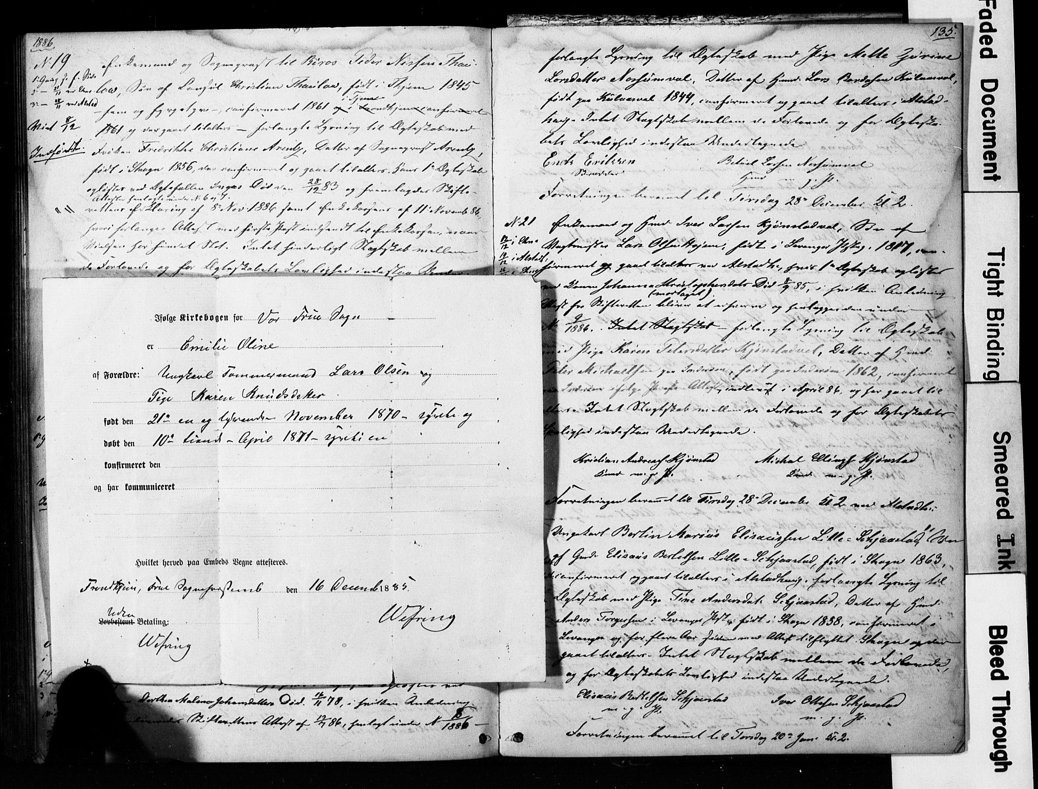 SAT, Ministerialprotokoller, klokkerbøker og fødselsregistre - Nord-Trøndelag, 717/L0161: Forlovererklæringer nr. 717A11, 1850-1895, s. 135