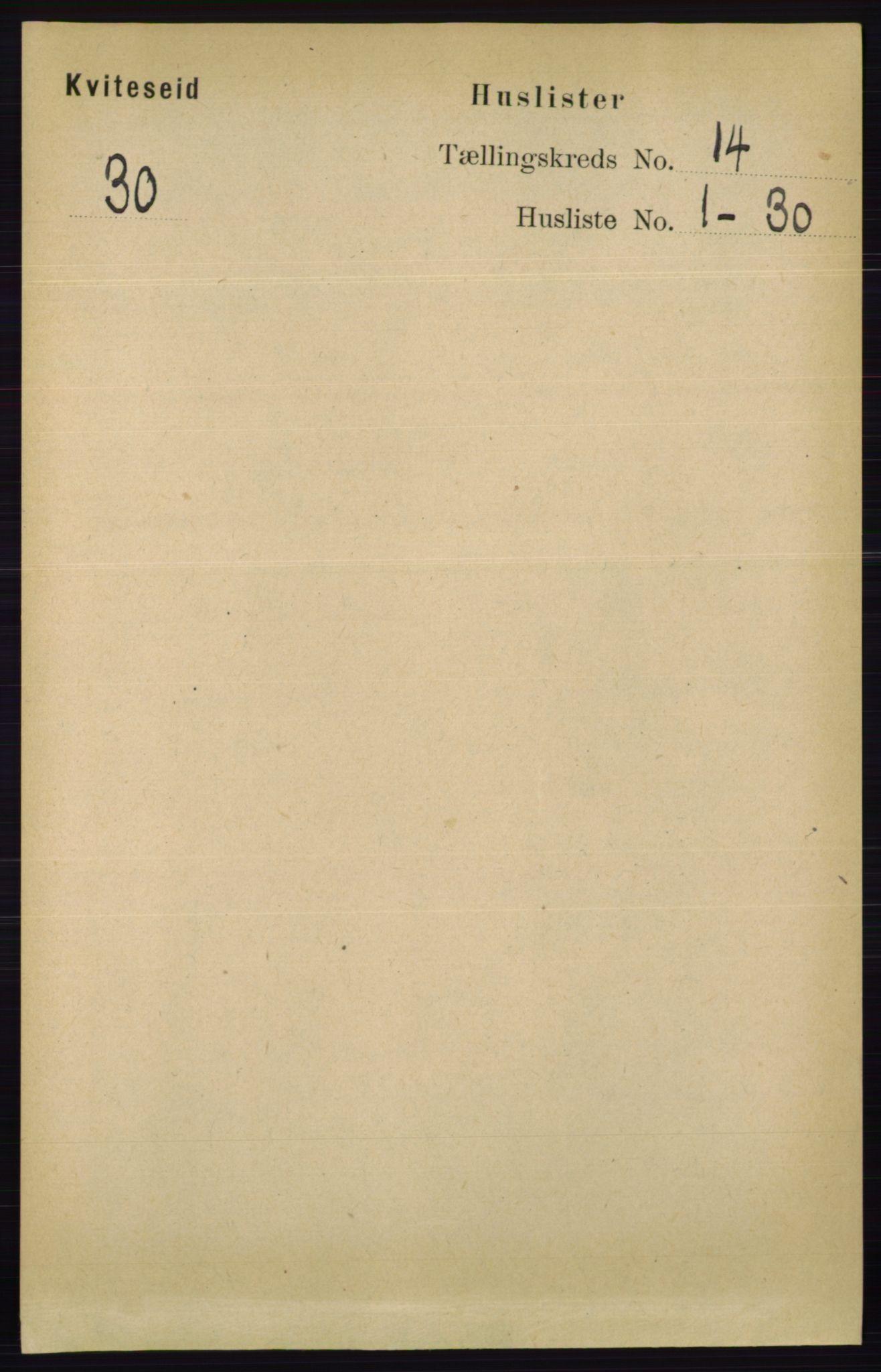 RA, Folketelling 1891 for 0829 Kviteseid herred, 1891, s. 3315