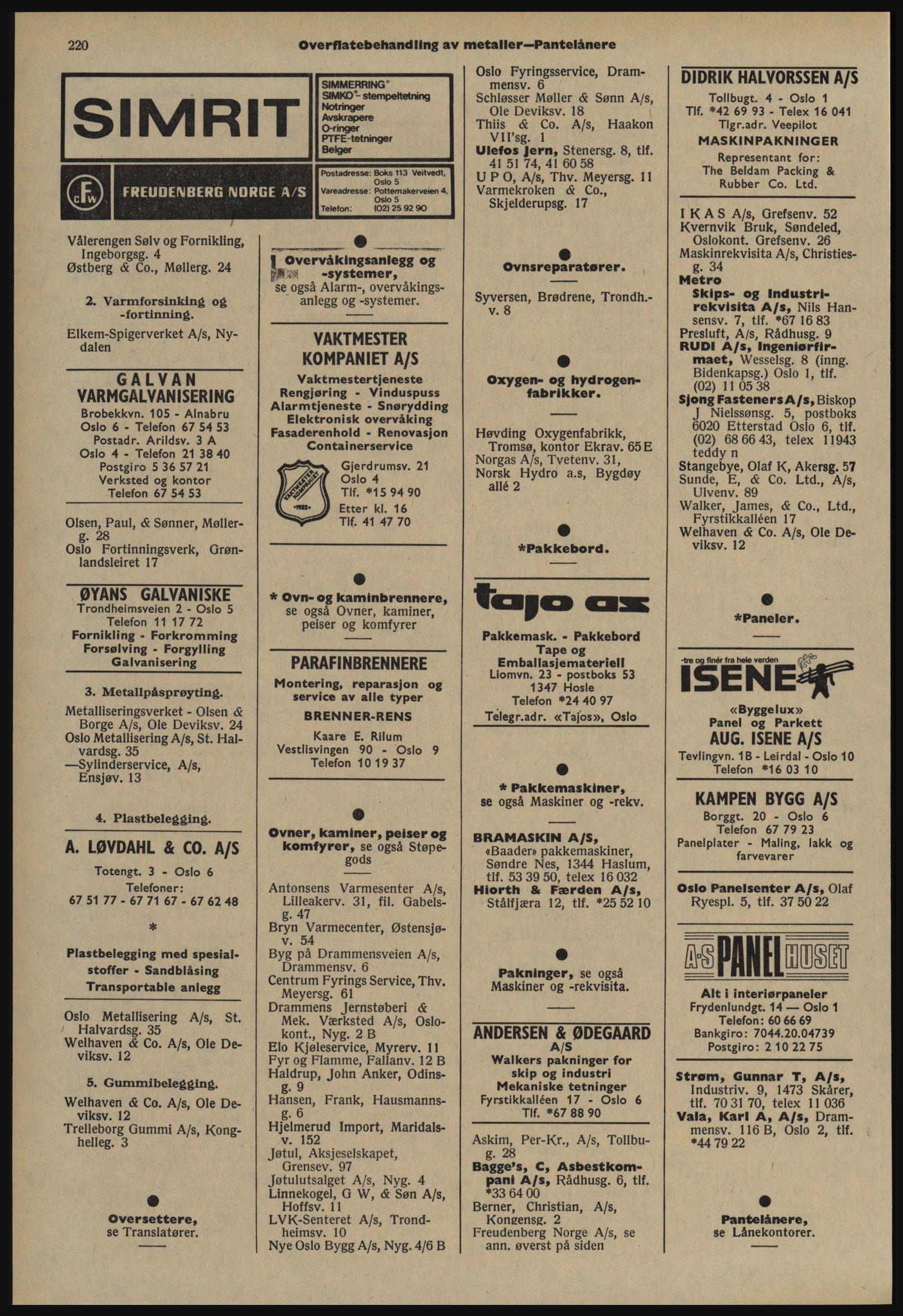 PUBL, Kristiania/Oslo adressebok, 1978-1979, s. 220