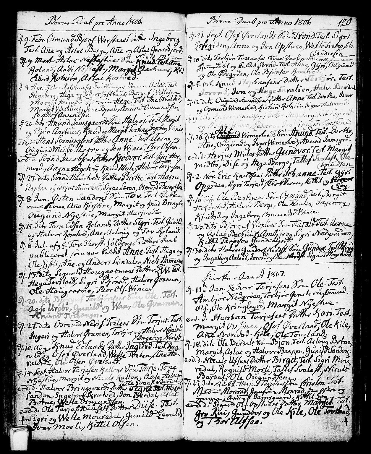 SAKO, Vinje kirkebøker, F/Fa/L0002: Ministerialbok nr. I 2, 1767-1814, s. 120