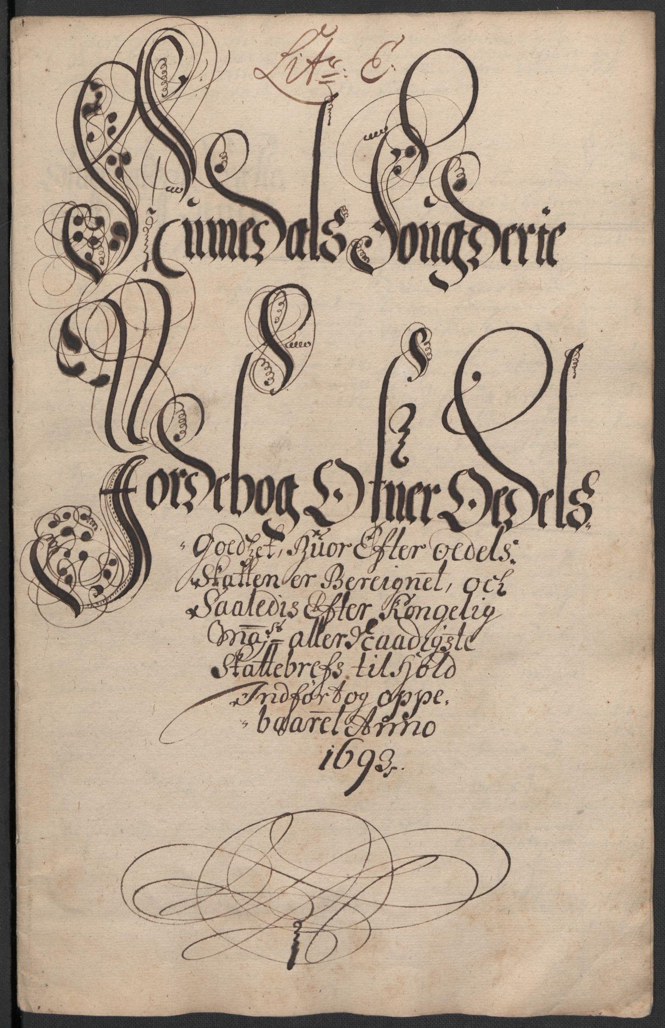 RA, Rentekammeret inntil 1814, Reviderte regnskaper, Fogderegnskap, R64/L4424: Fogderegnskap Namdal, 1692-1695, s. 251