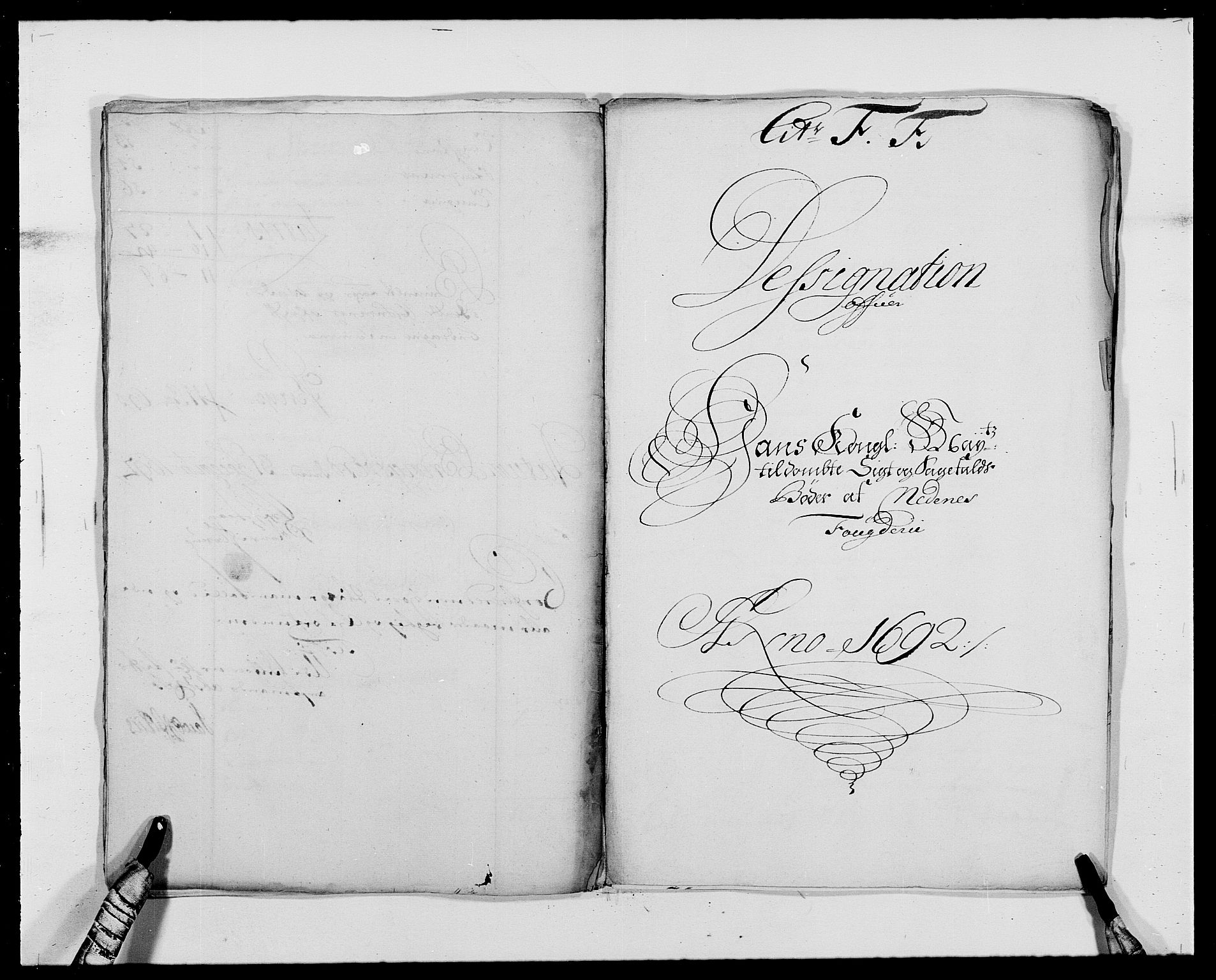 RA, Rentekammeret inntil 1814, Reviderte regnskaper, Fogderegnskap, R39/L2311: Fogderegnskap Nedenes, 1690-1692, s. 158
