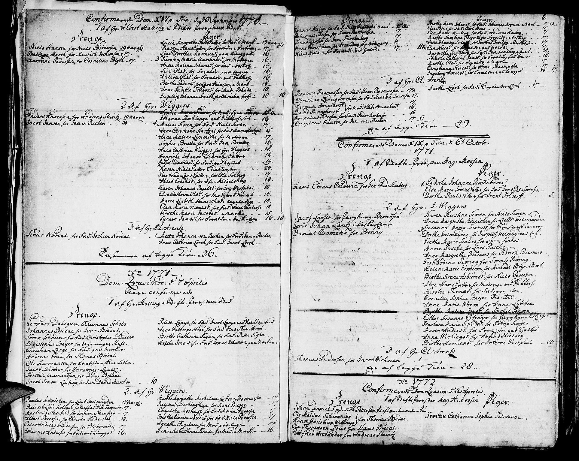 SAB, Domkirken sokneprestembete, H/Haa/L0004: Ministerialbok nr. A 4, 1763-1820, s. 6