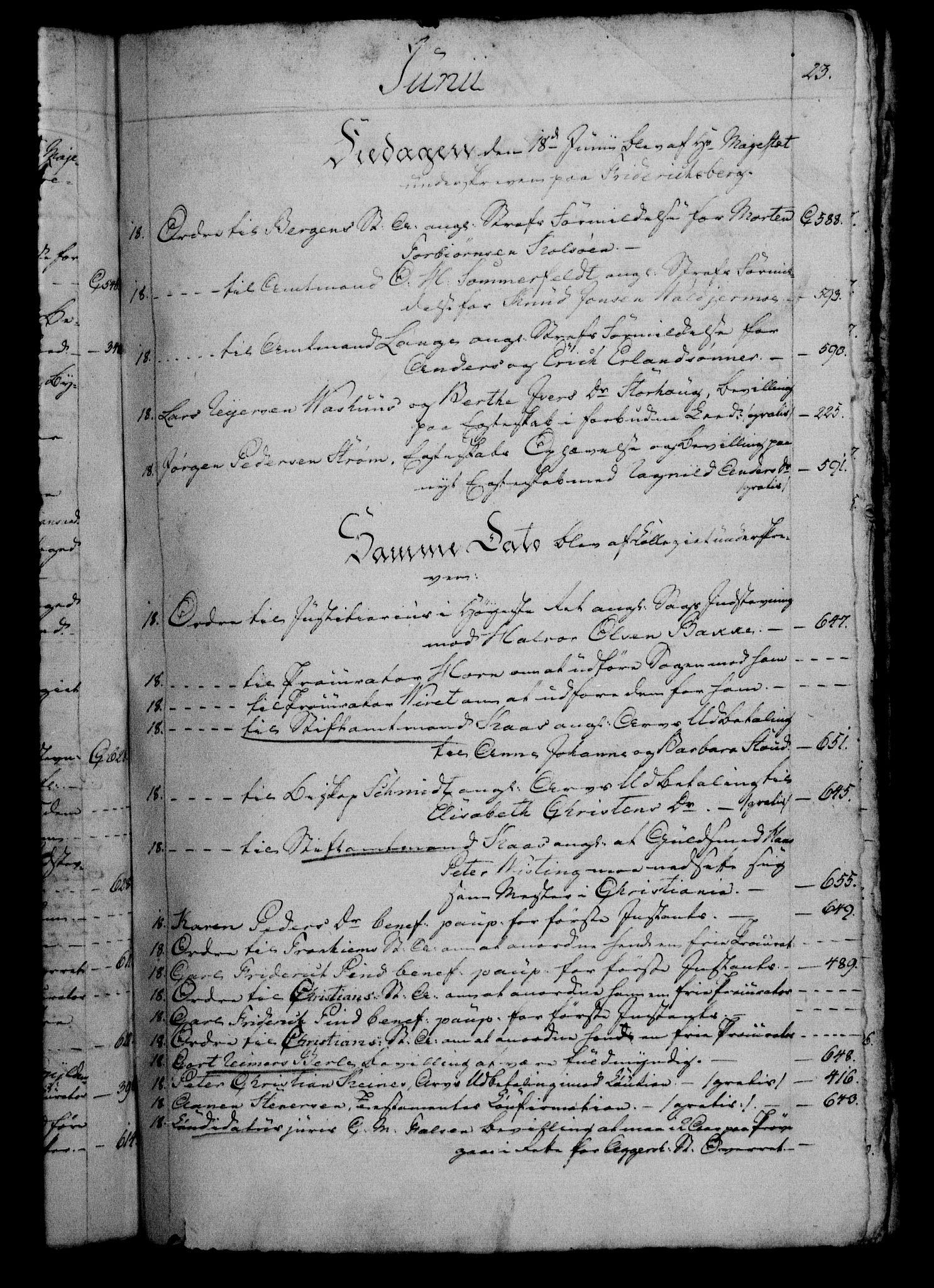 RA, Danske Kanselli 1800-1814, H/Hf/Hfb/Hfbc/L0003: Underskrivelsesbok m. register, 1802, s. 23
