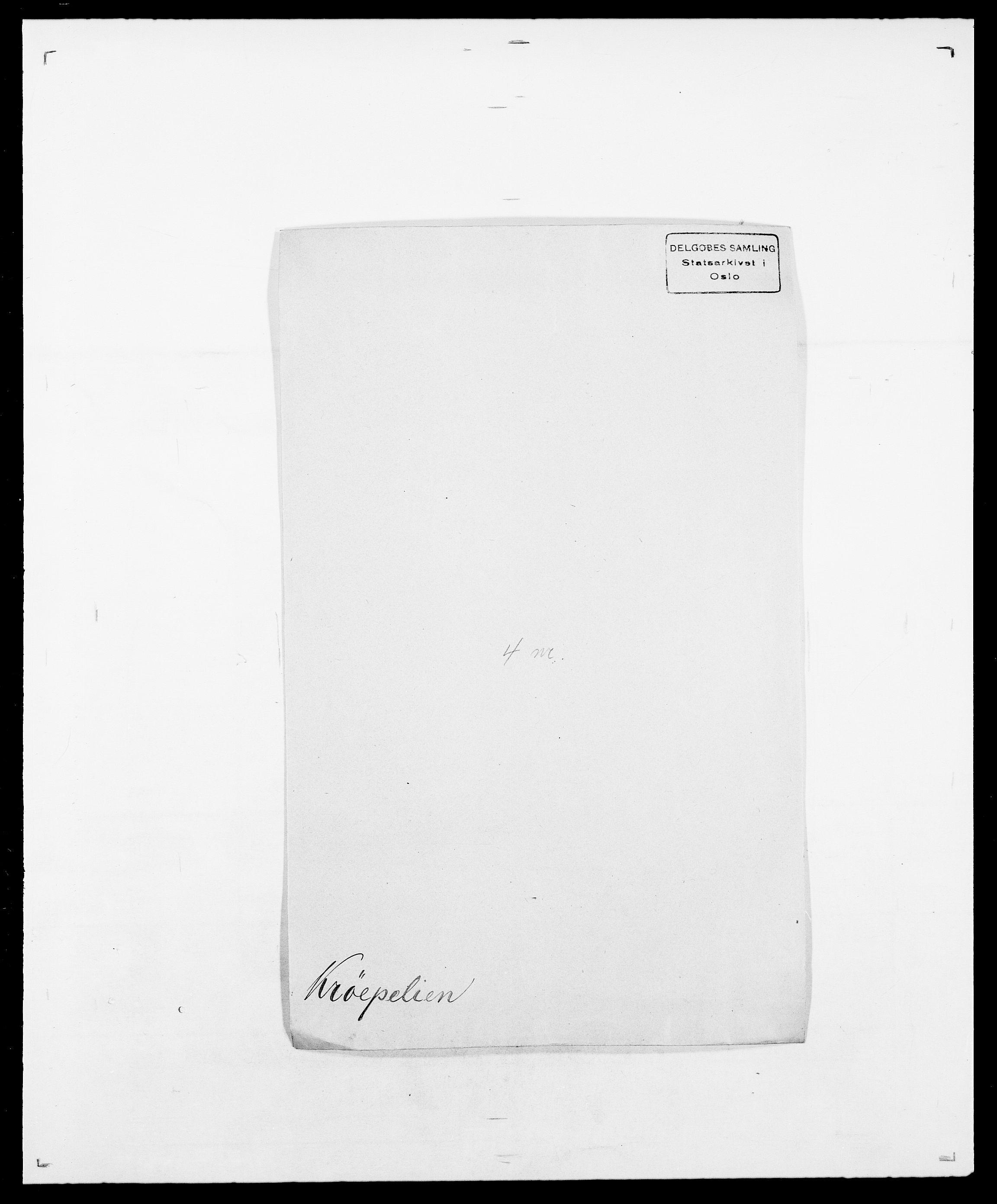 SAO, Delgobe, Charles Antoine - samling, D/Da/L0022: Krog - Lasteen, s. 189