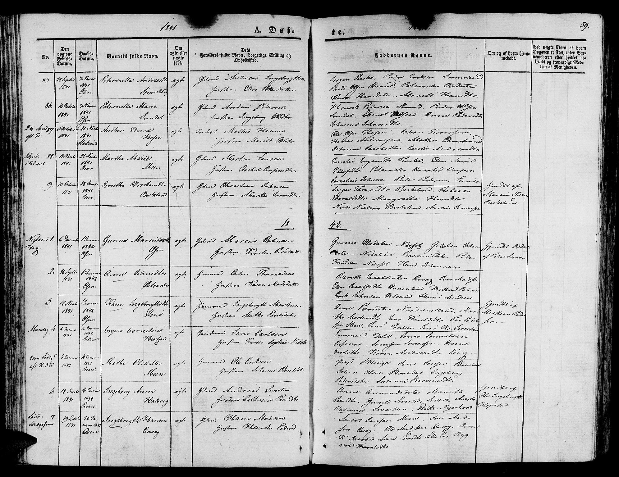 SAT, Ministerialprotokoller, klokkerbøker og fødselsregistre - Sør-Trøndelag, 657/L0703: Ministerialbok nr. 657A04, 1831-1846, s. 59