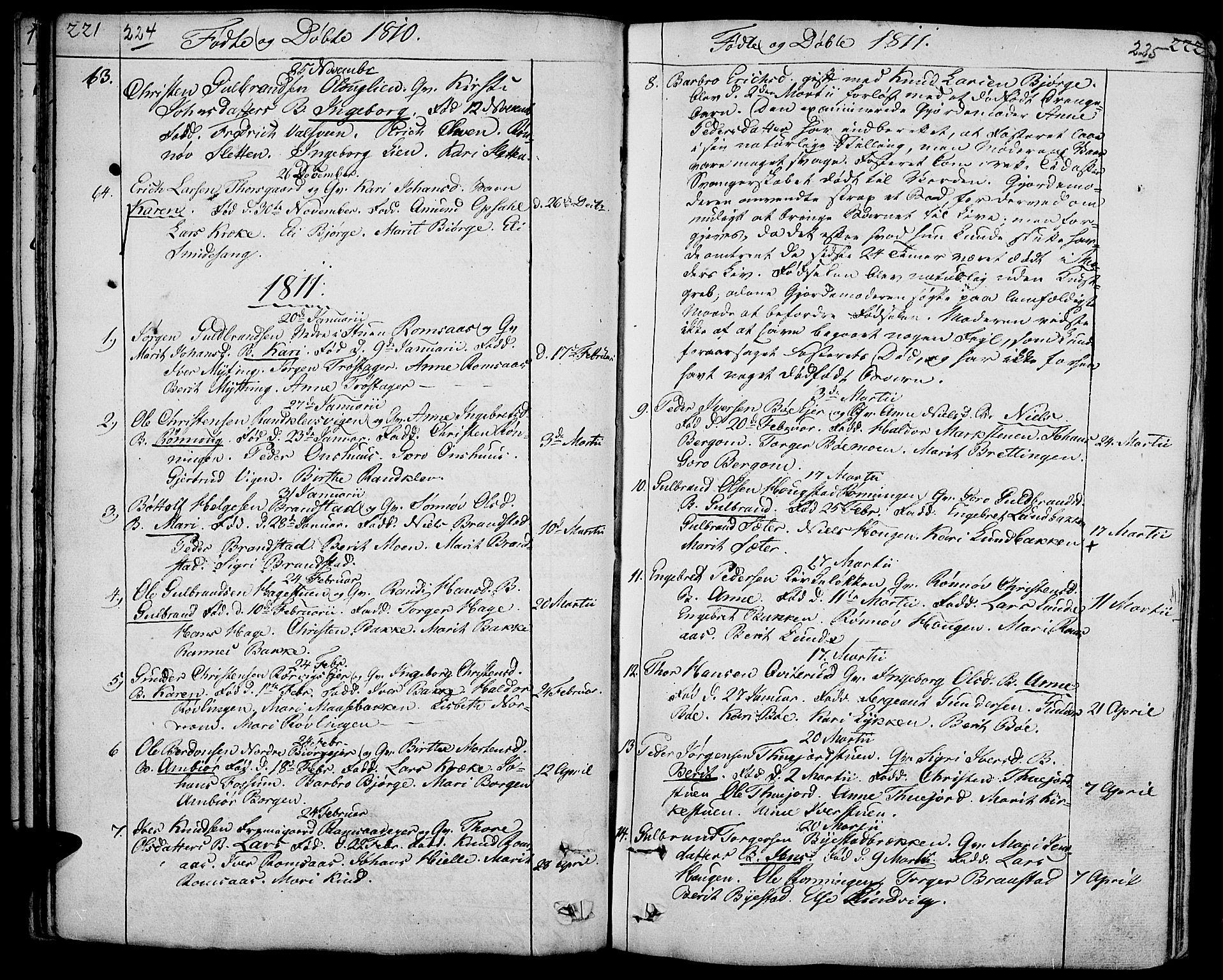 SAH, Ringebu prestekontor, Ministerialbok nr. 3, 1781-1820, s. 224-225