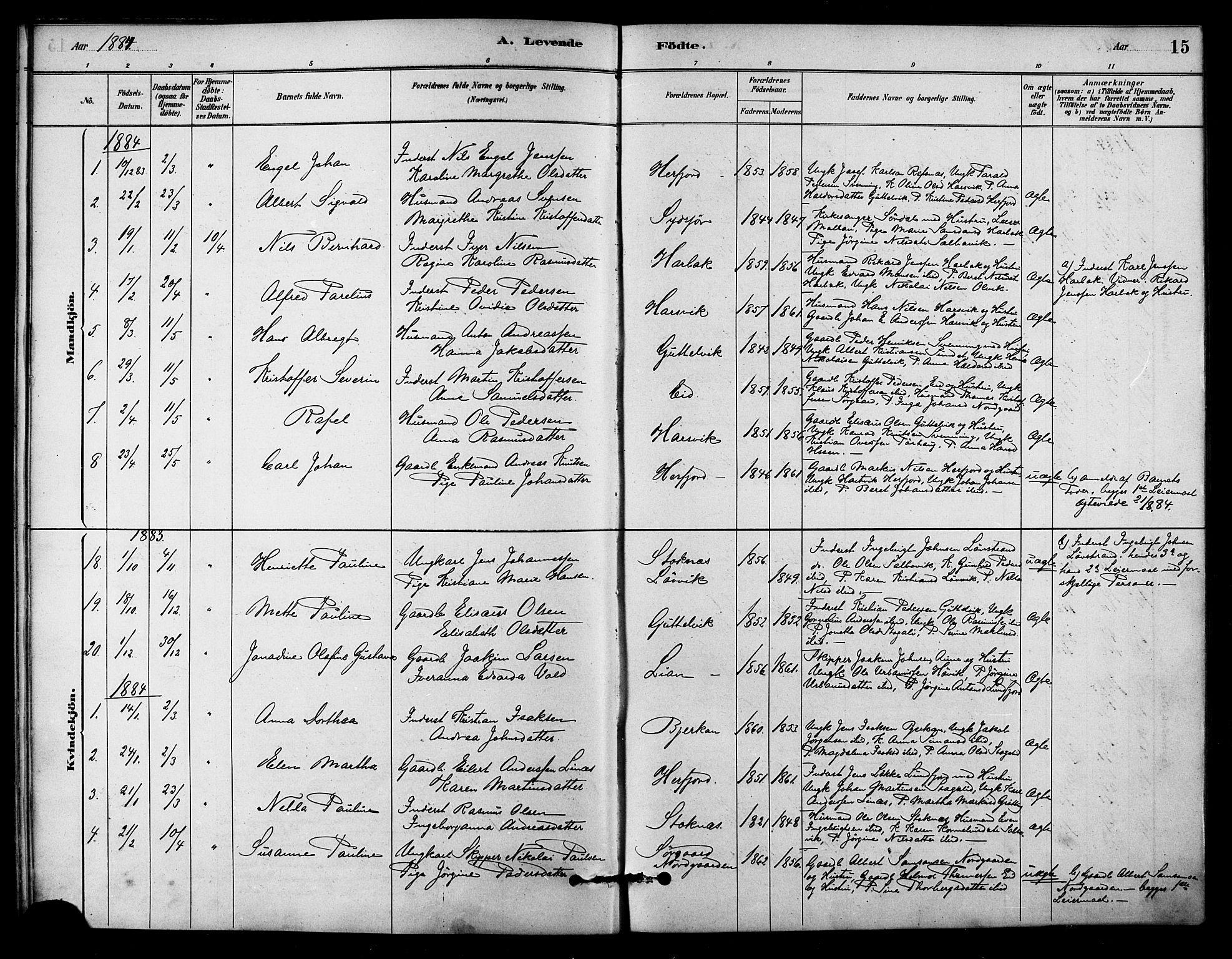 SAT, Ministerialprotokoller, klokkerbøker og fødselsregistre - Sør-Trøndelag, 656/L0692: Ministerialbok nr. 656A01, 1879-1893, s. 15