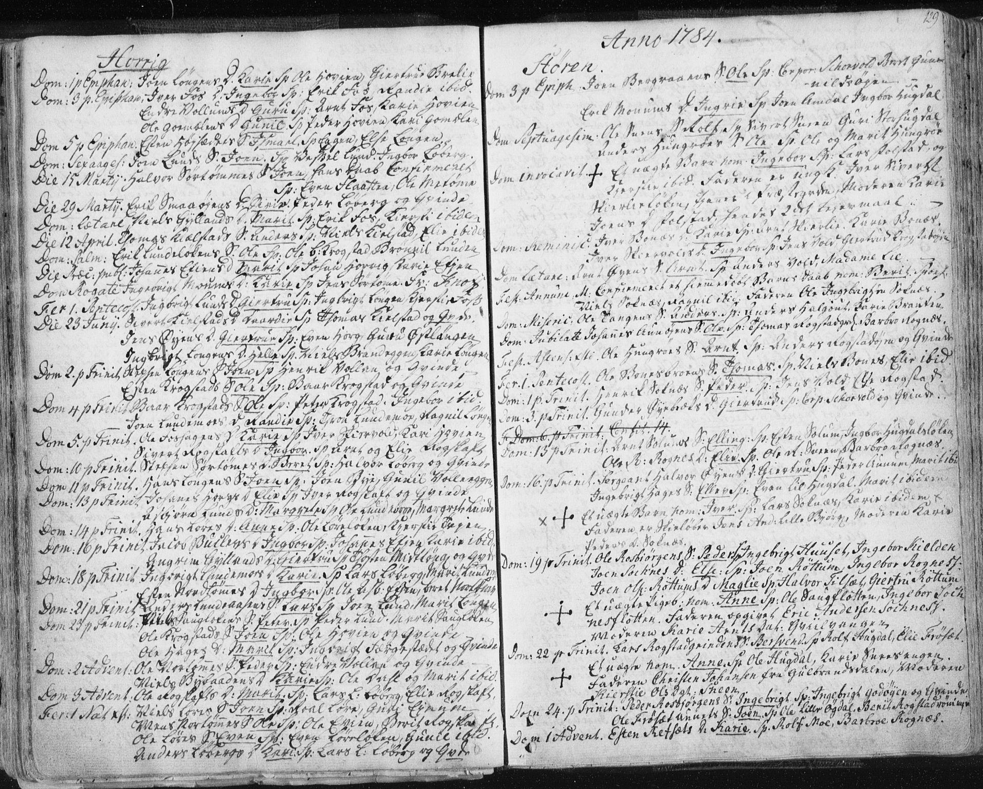 SAT, Ministerialprotokoller, klokkerbøker og fødselsregistre - Sør-Trøndelag, 687/L0991: Ministerialbok nr. 687A02, 1747-1790, s. 129